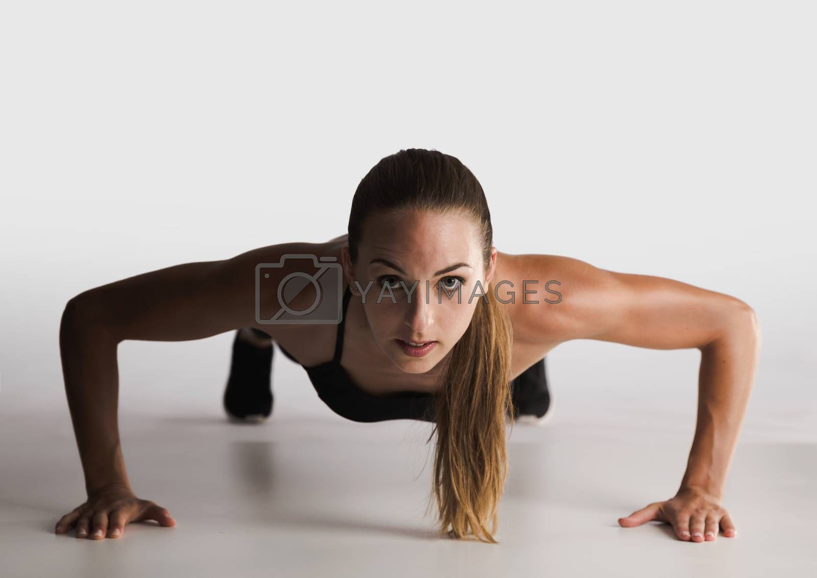 Royalty free image of Push-up Challenge by Iko