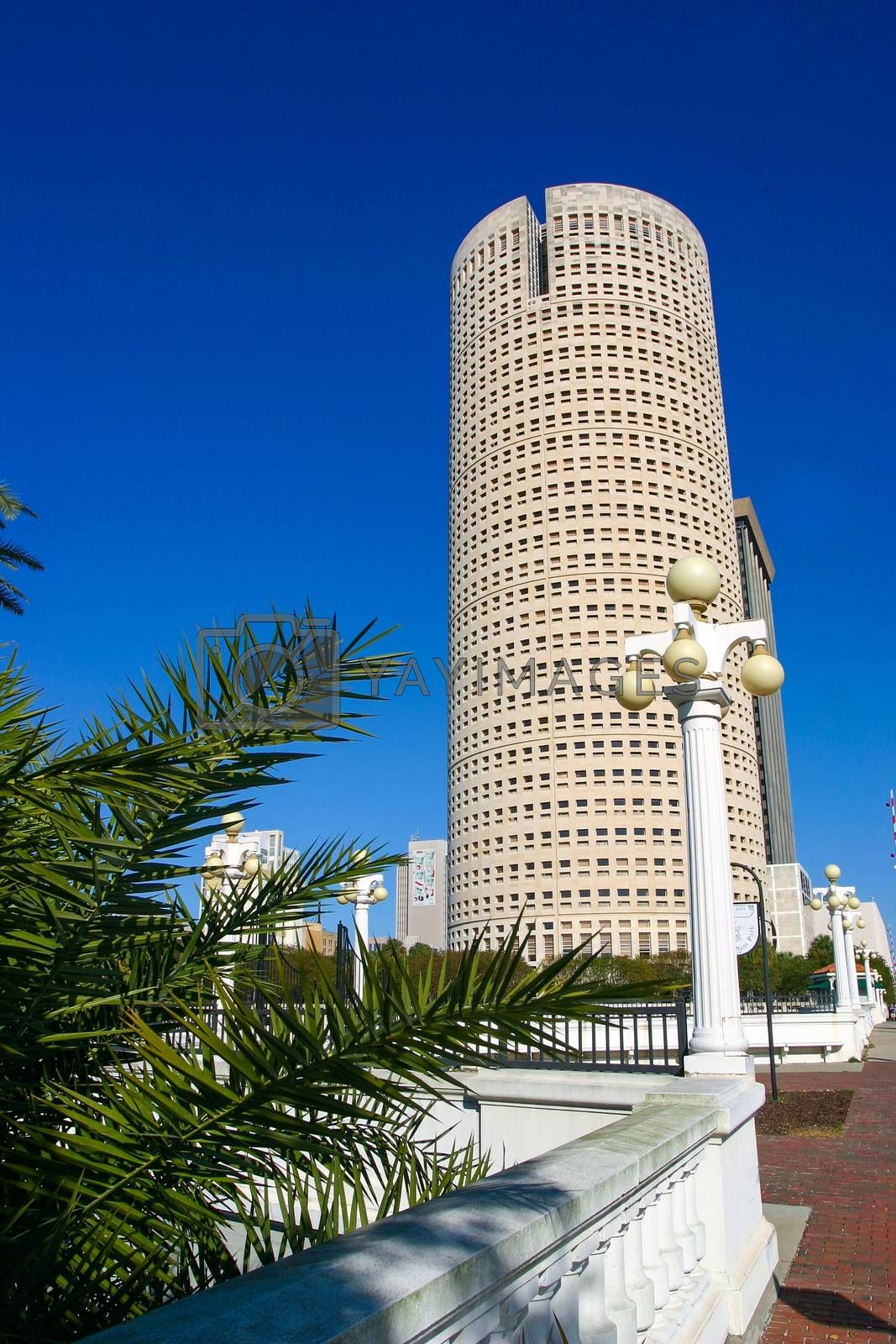 TAMPA, FLORIDA, USA - DECEMBER 06, 2003: Rivergate Tower building in the Central Business District on a sunny day.