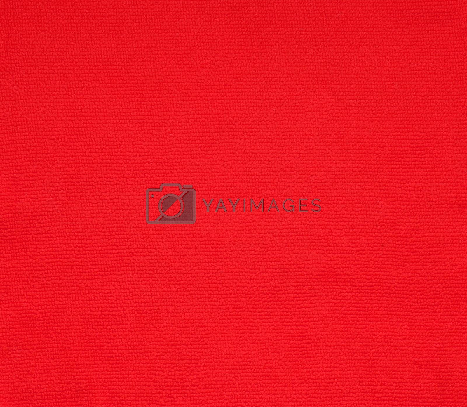 surface red fabric texture for background