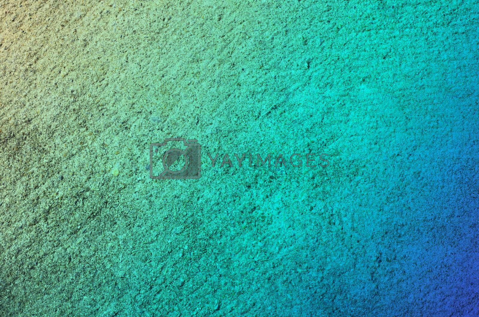 blue green color Cement concrete surface abstract background and texture