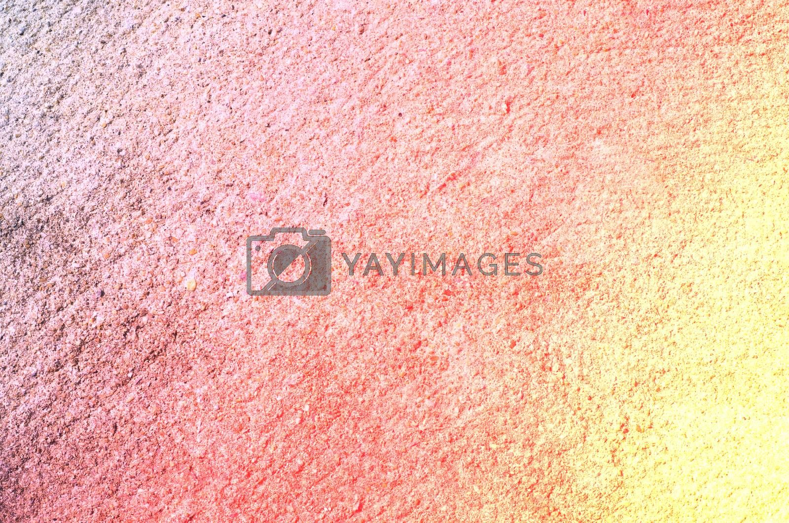 red yellow color Cement concrete surface abstract background and texture