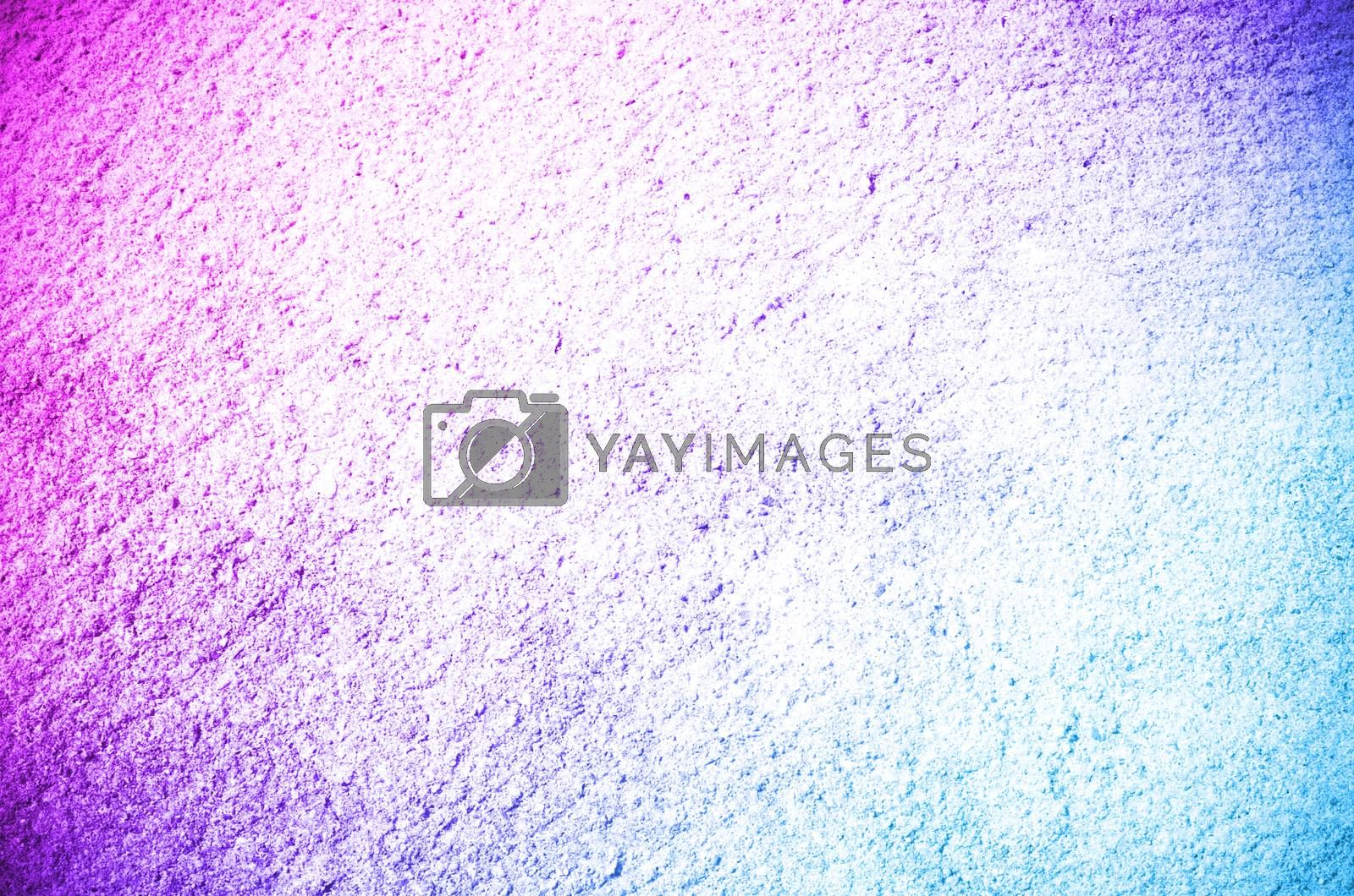 pink and blue color Cement concrete surface abstract background and texture