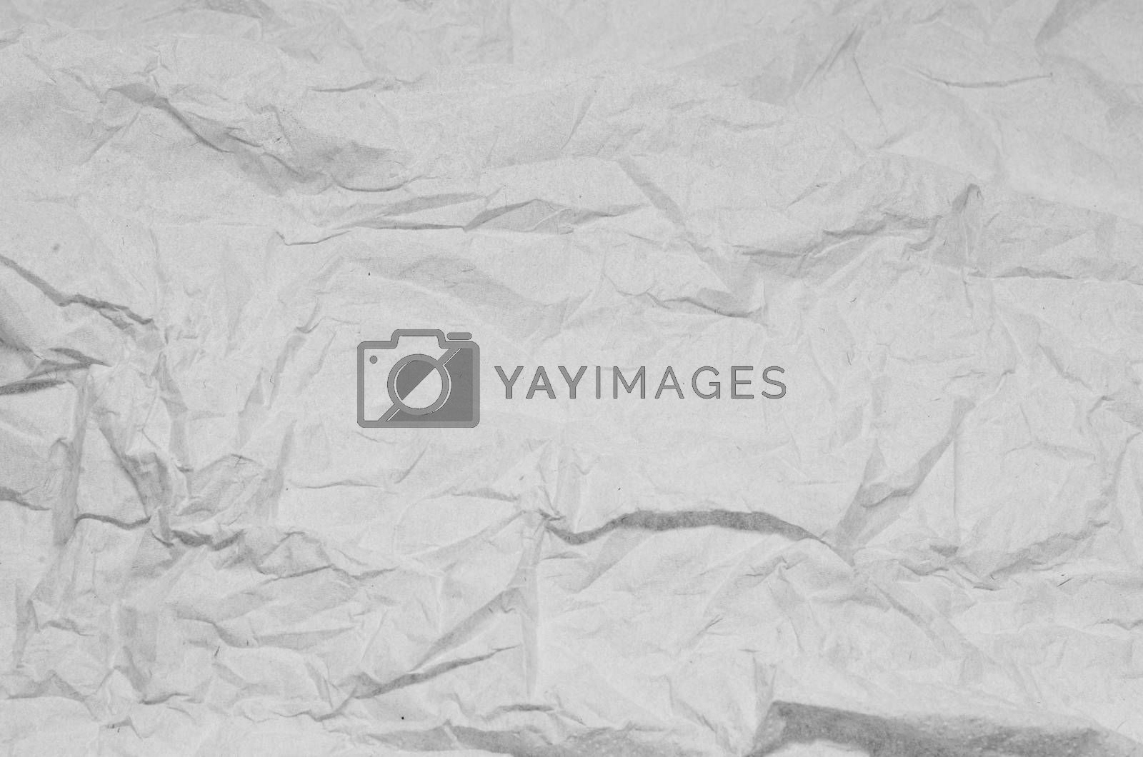 crumpled paper texture background black and white