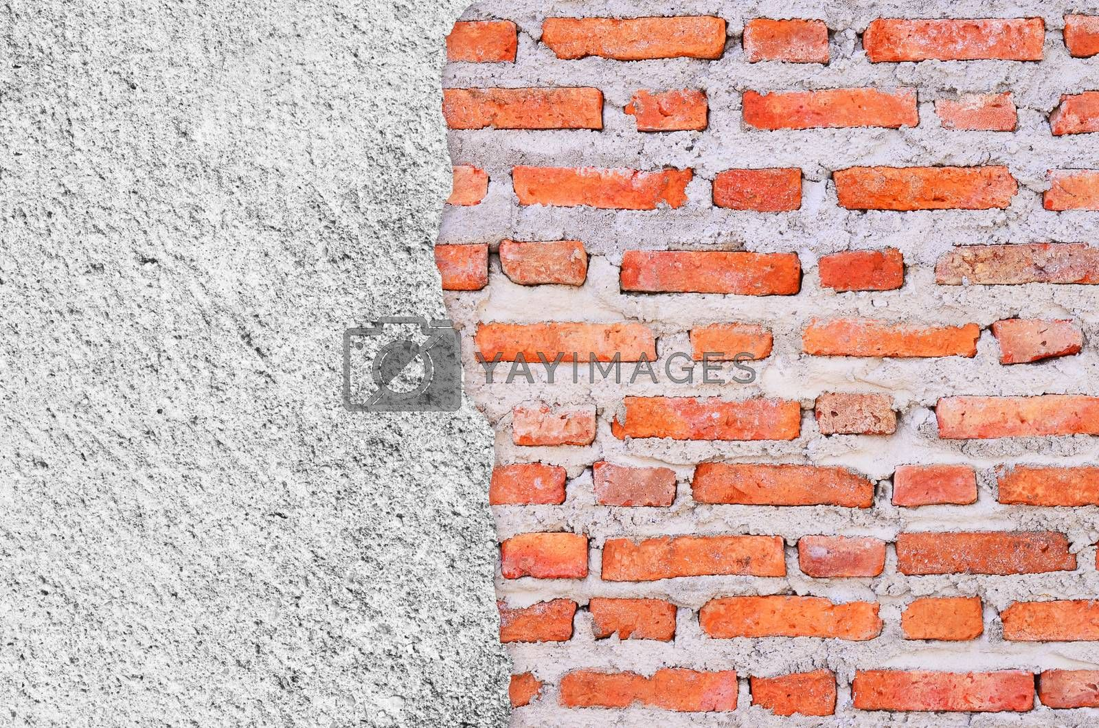 old grunge brick wall background with space for text
