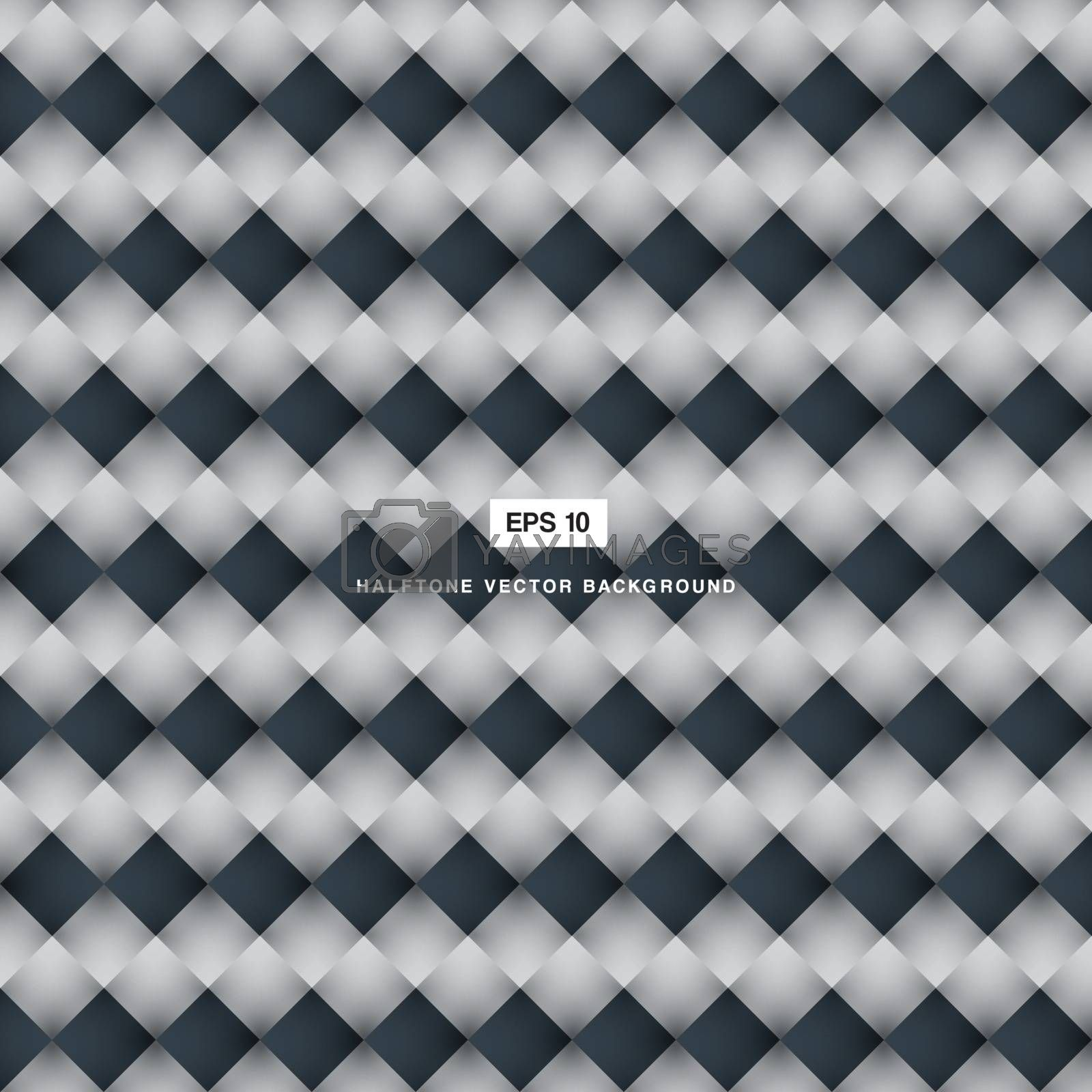 Abstract background blue and white square pattern vector