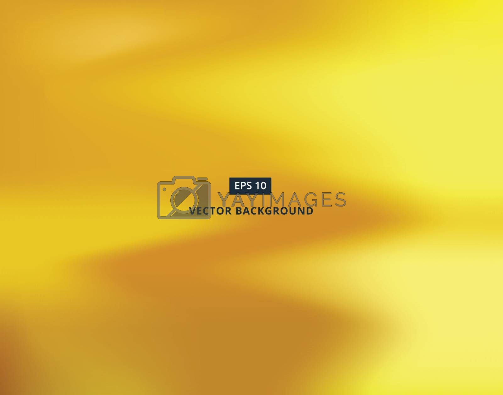 Vector gold wave blurred gradient style background. Abstract luxury smooth illustration wallpaper