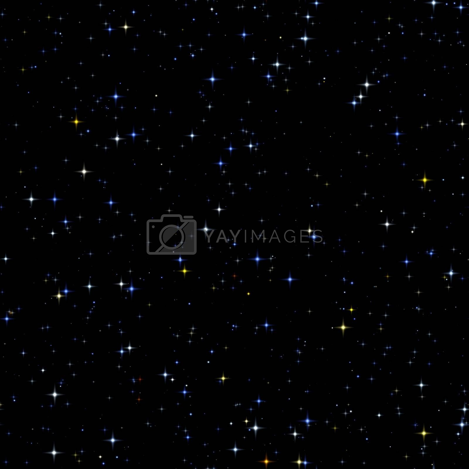 seamless stars background by magann