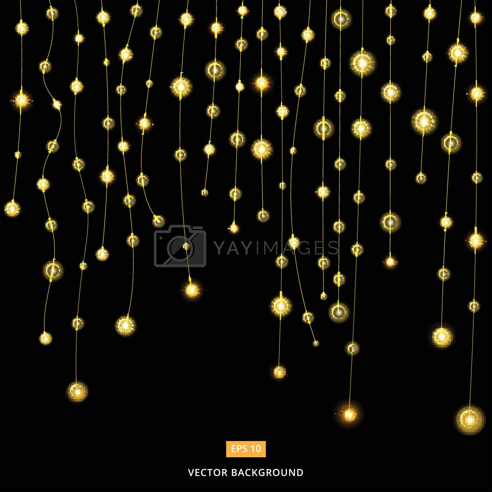 Light bulbs decorate the party Or Christmas day vector