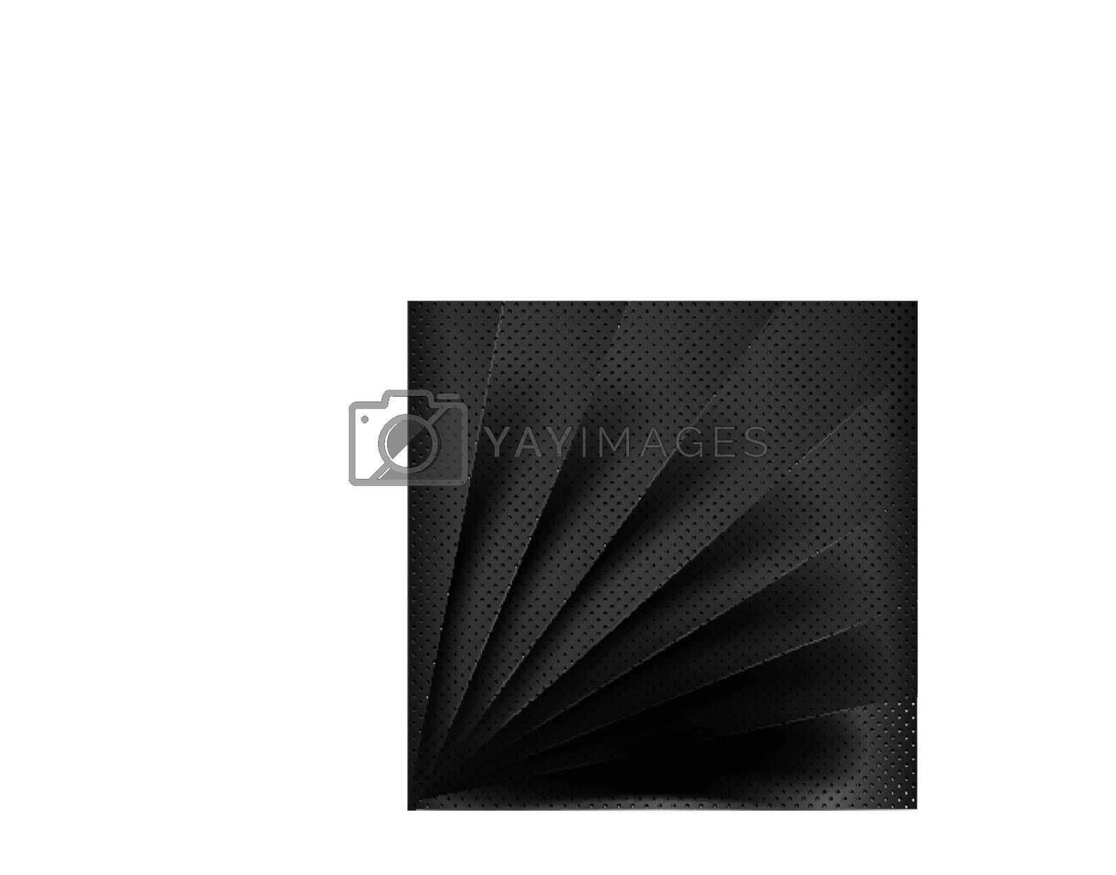 Black metal vector background overlap multi paper lighting for text and message website design