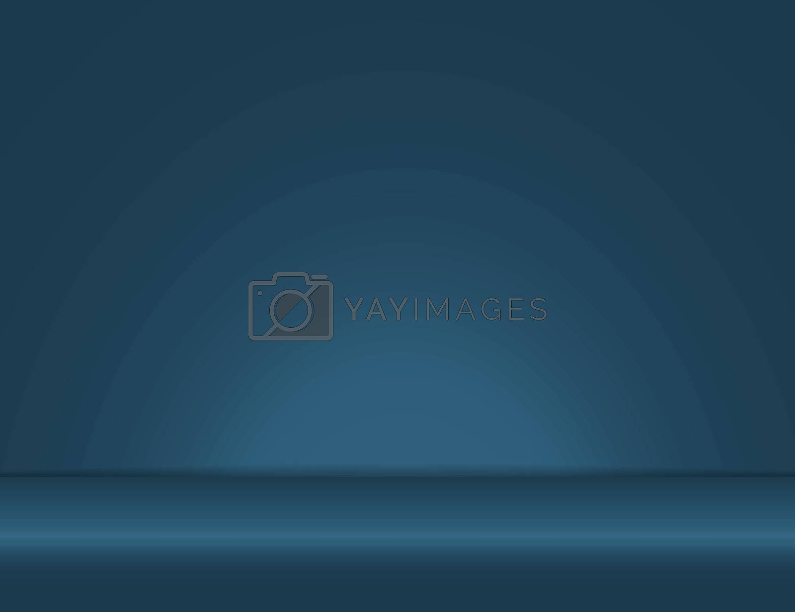 blue light rays room studio background for use in various applications and design products vector