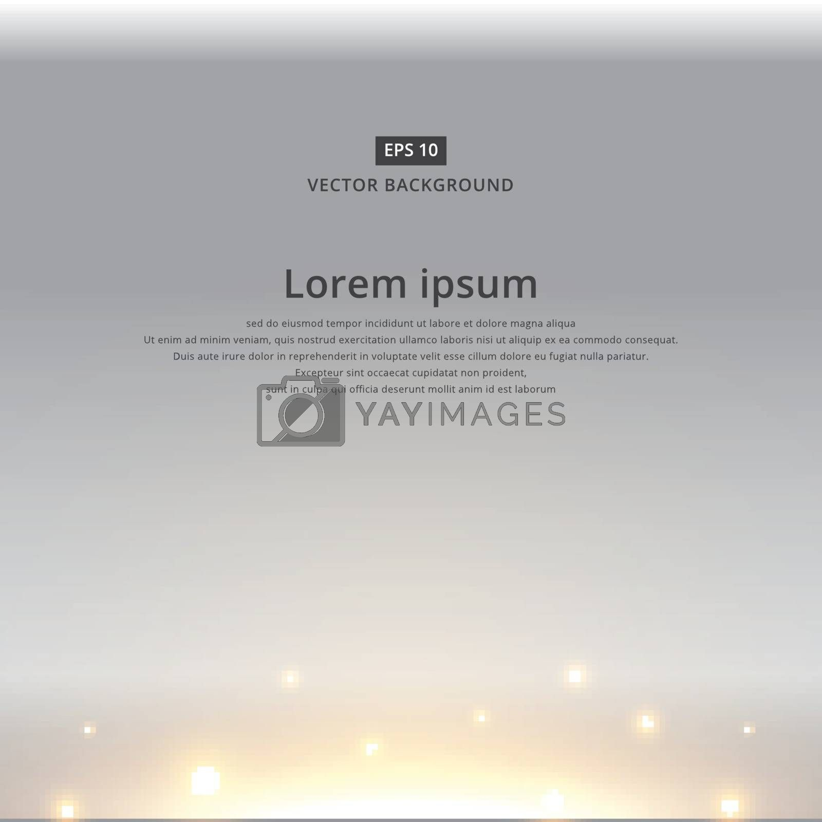 The sun rising with bright dark sky background copy space vector
