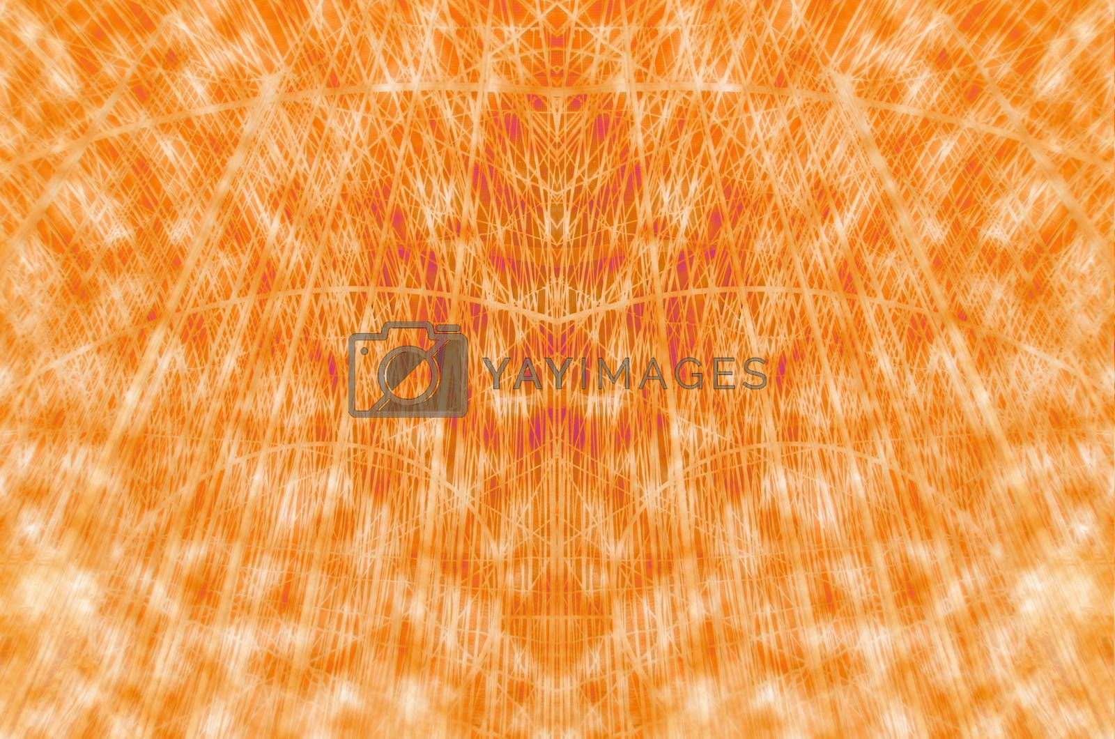 line orange abstract dynamic creative power background