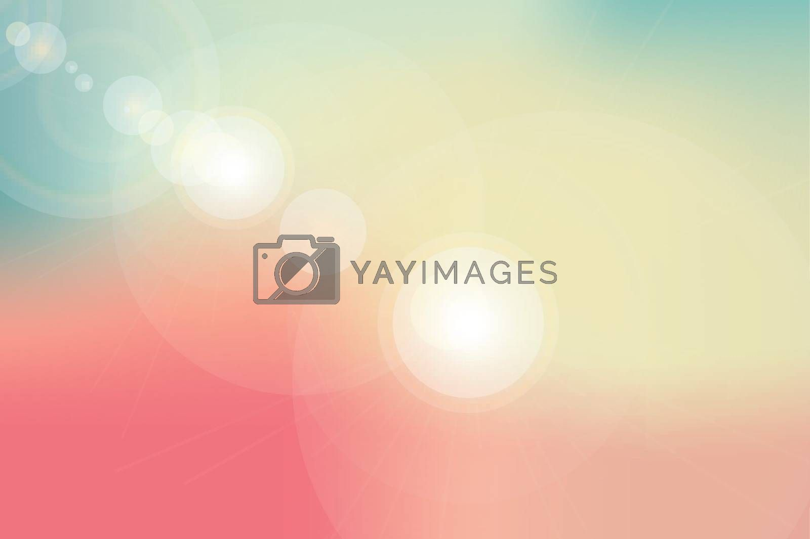 abstract background or nature sky and flare light vector