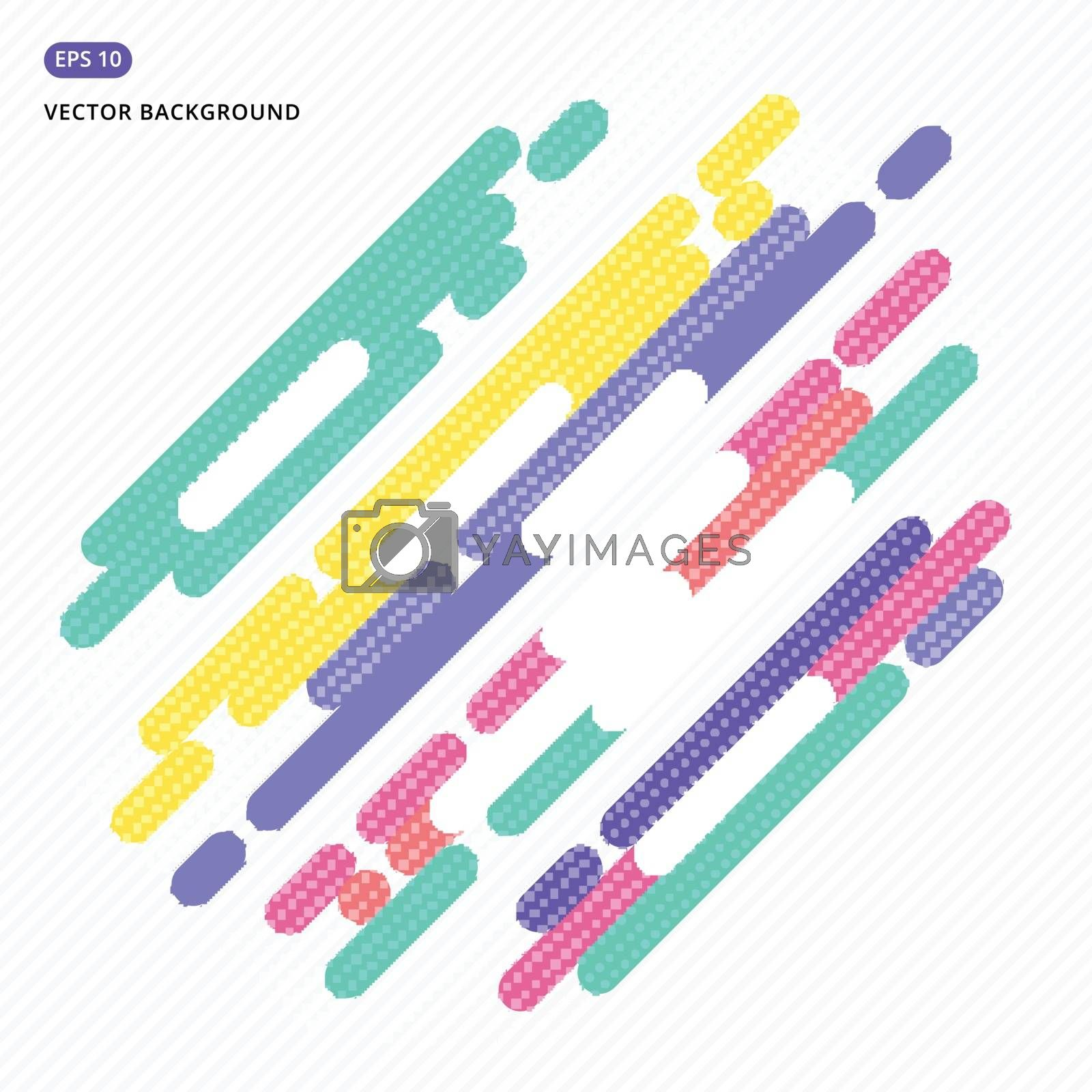 abstract background design graphic element rounded colorful vector