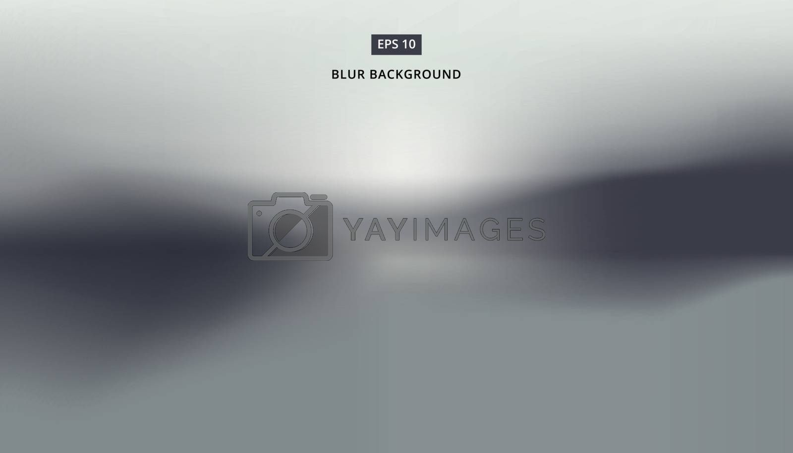 Background image landscape, blurred gray vector