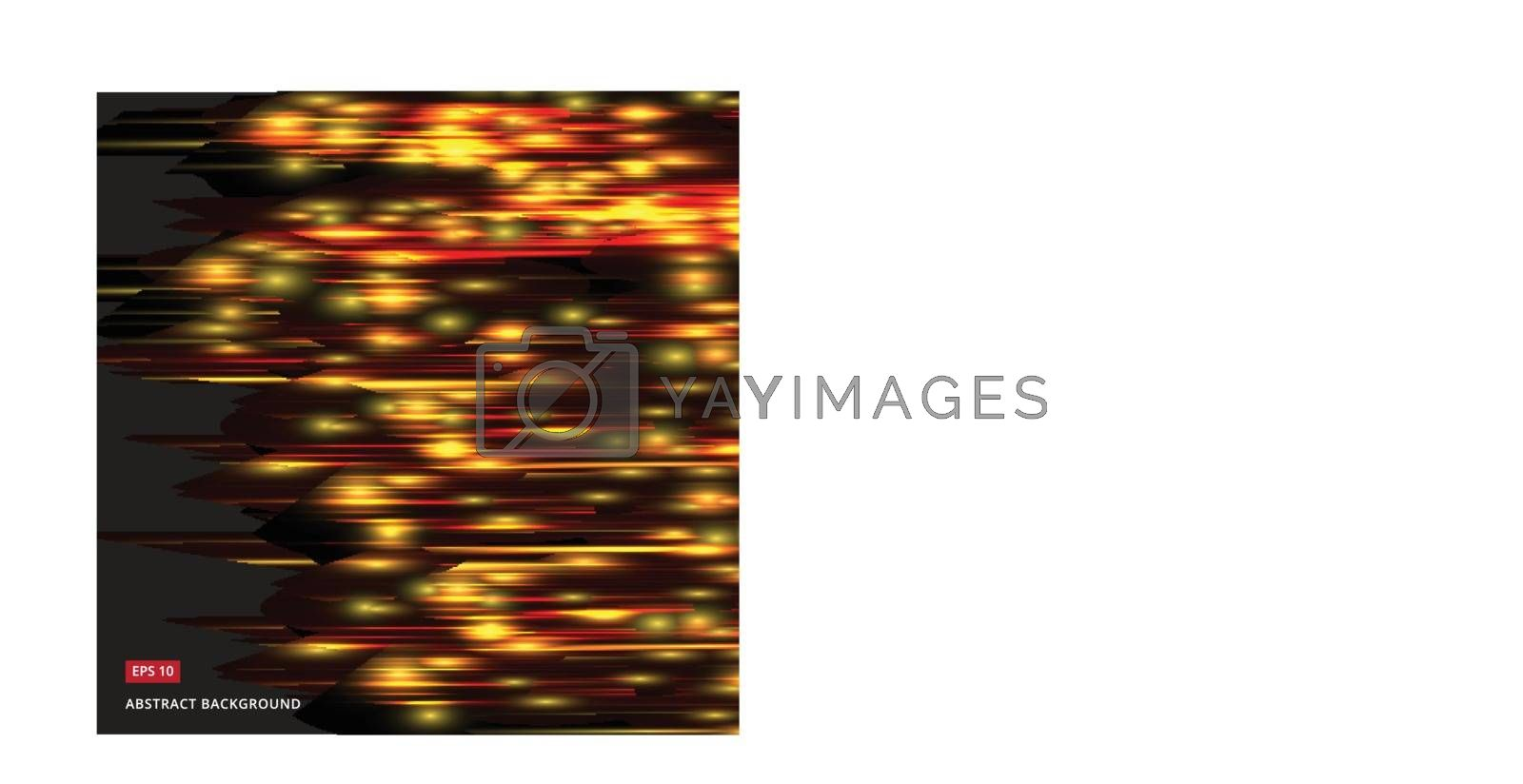 abstract vector with a yellow-orange glowing dark background