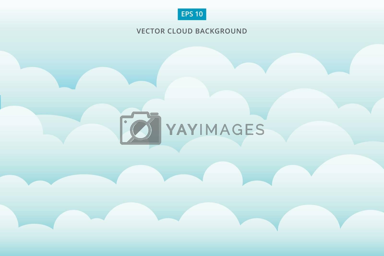 cloud scape vector background illustration