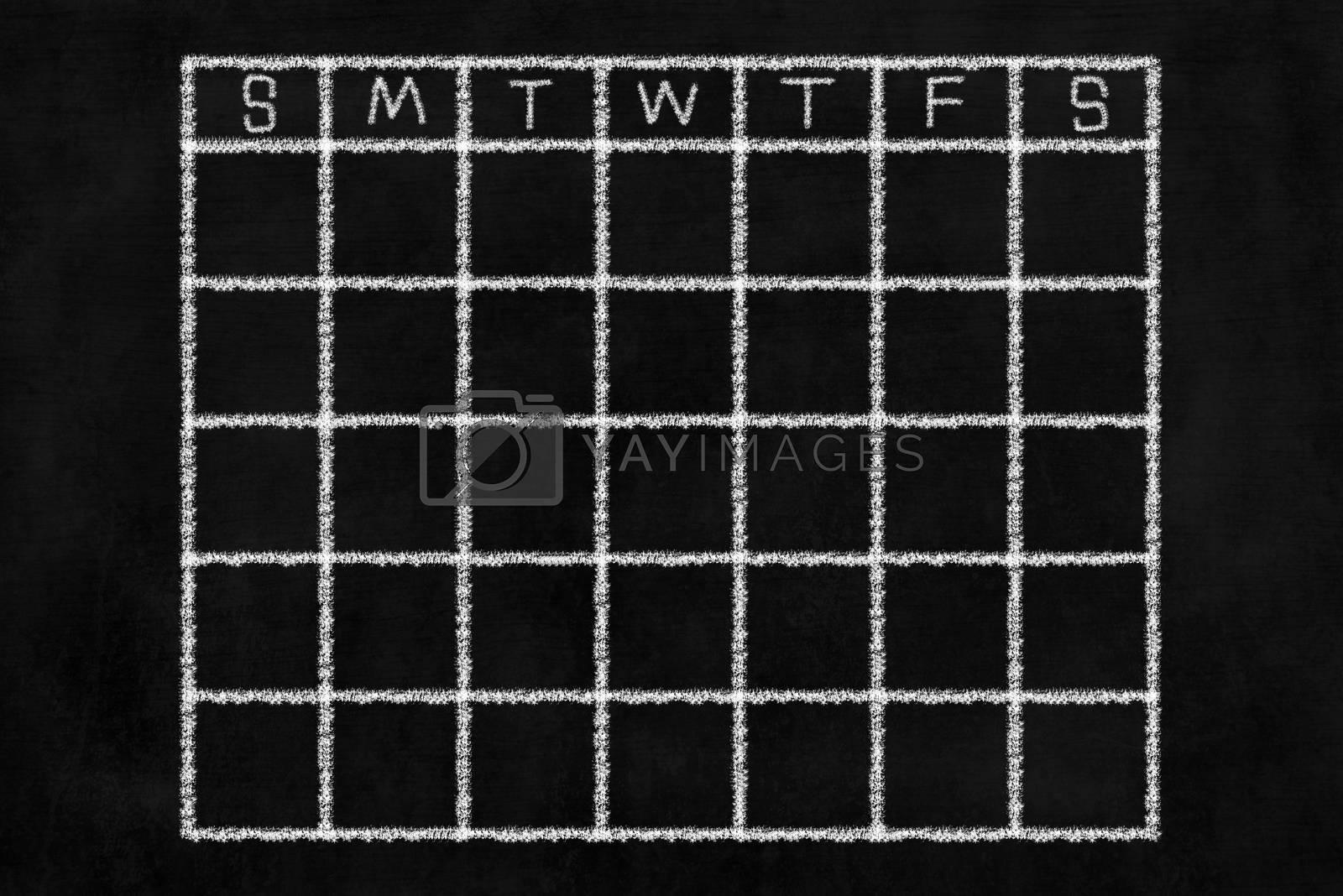 Chalkboard Calendar Background.