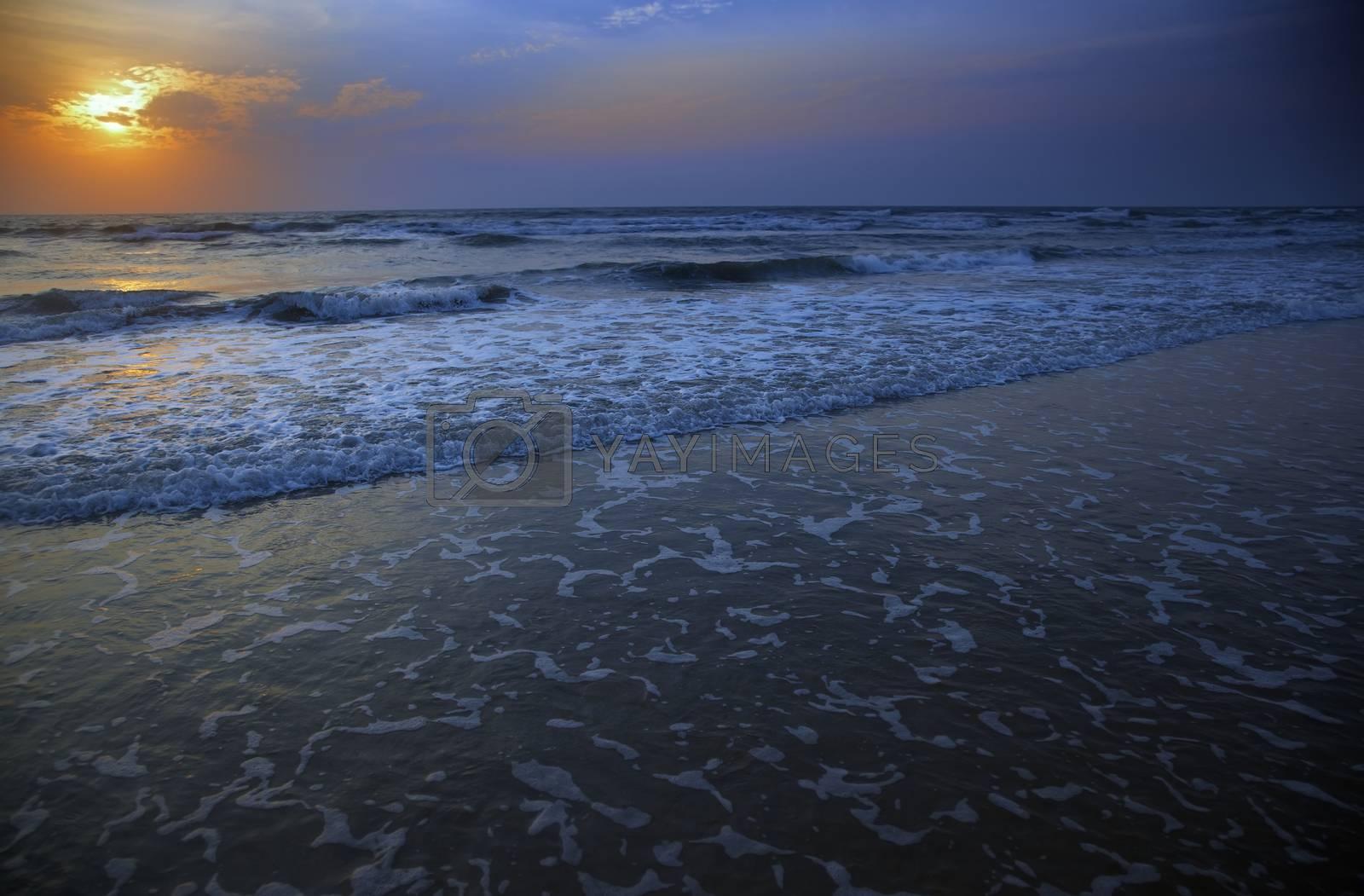 Sunset at Atlantic Ocean