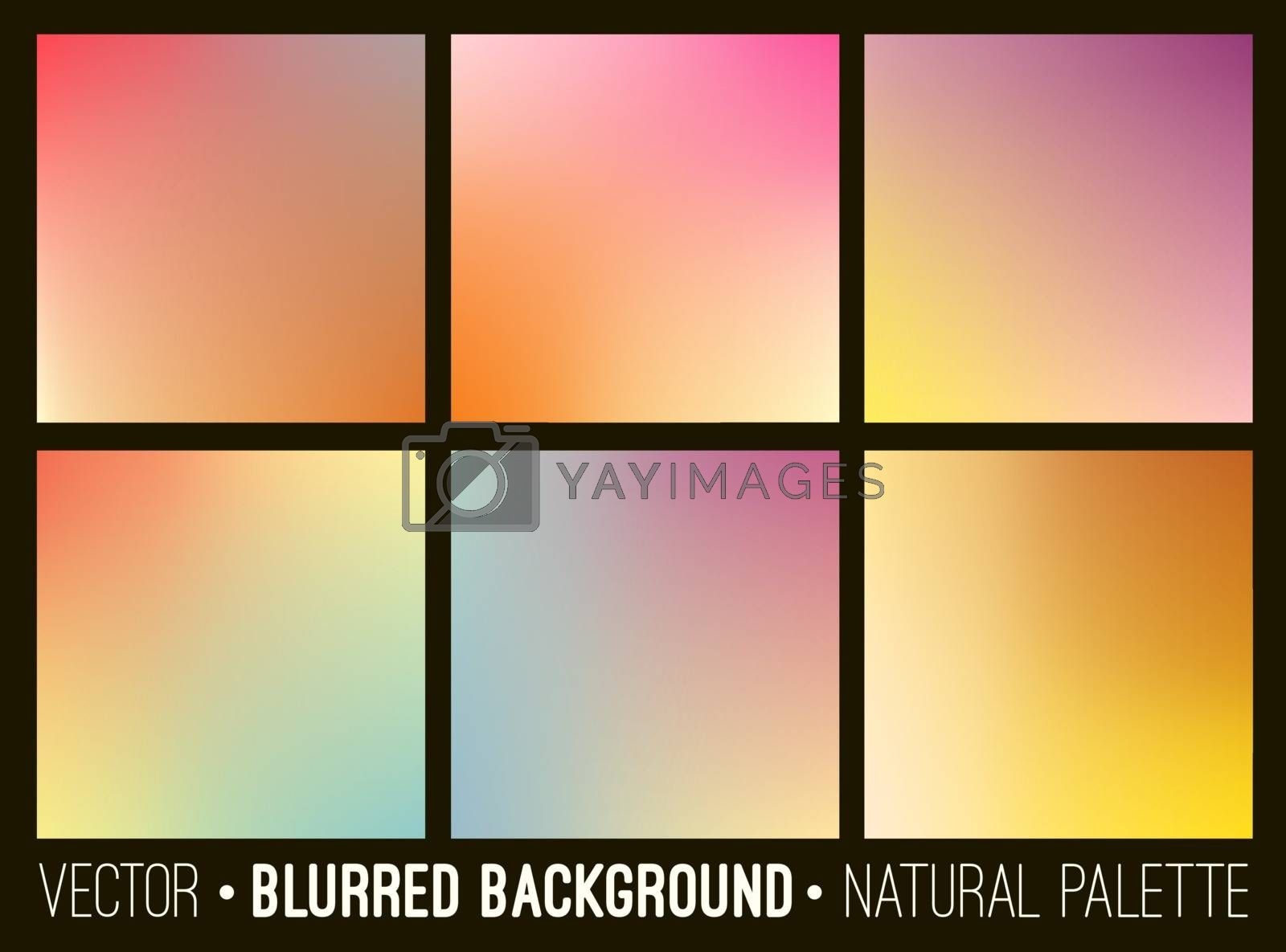 Colorful gradient abstract backgrounds set. Smooth template design for creative decor of covers, banners and websites