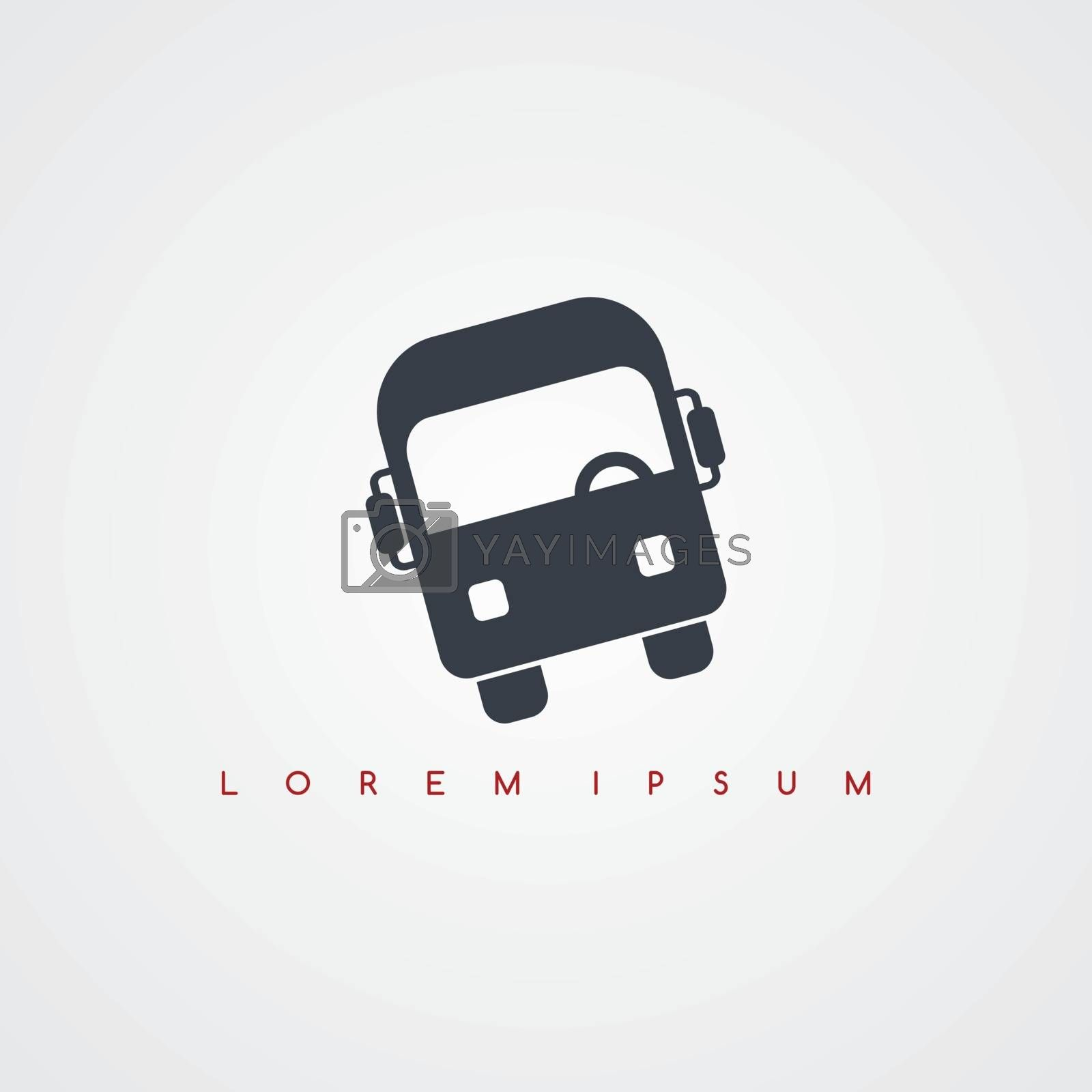 Royalty free image of bus transportation icon sign logotype by vector1st
