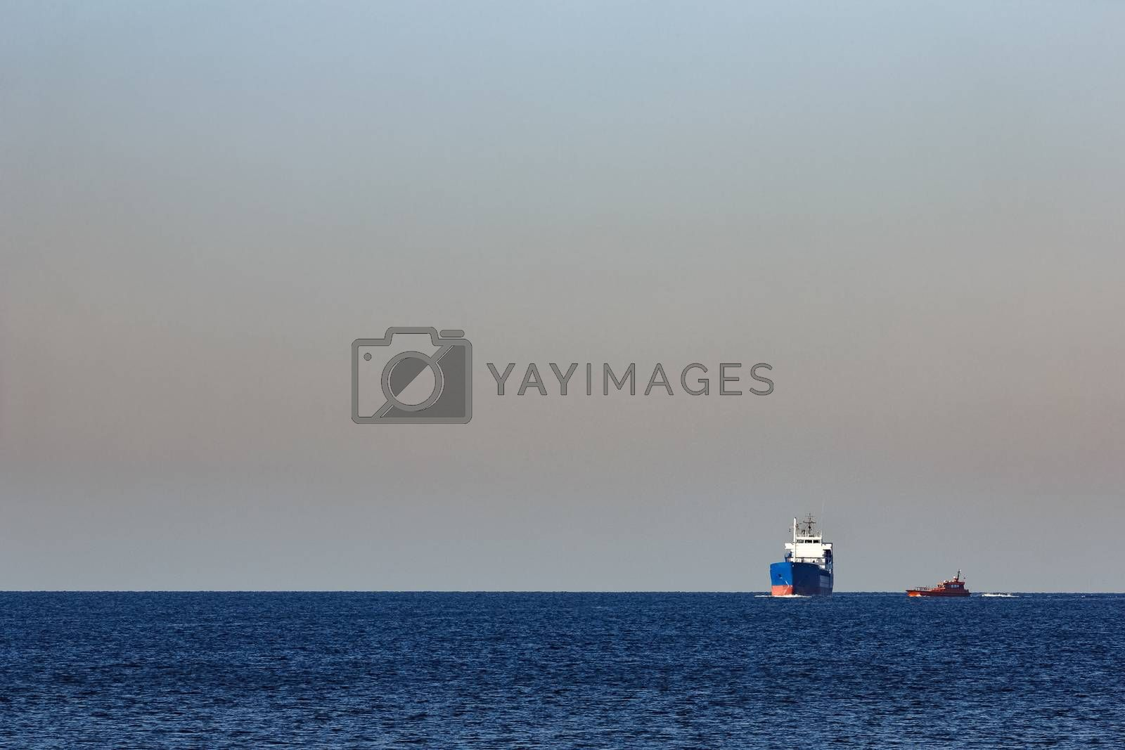 Blue bulk carrier by New SIGHT Photography