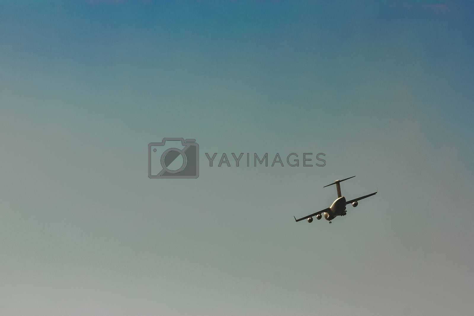 Passenger aircraft in the sky by sengnsp