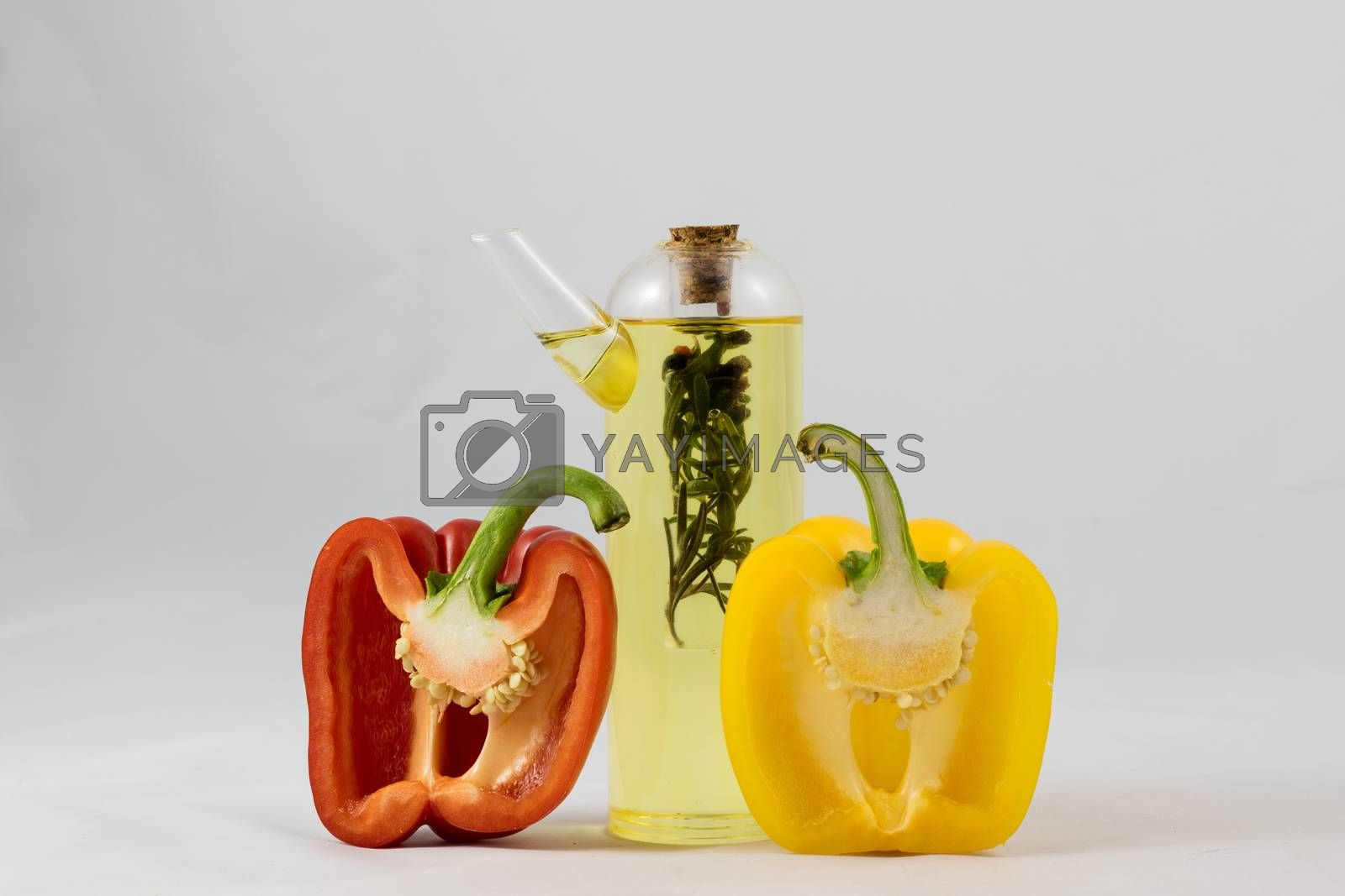 Great Italian food, peppers, tomatoes and olive oil by wytrazek
