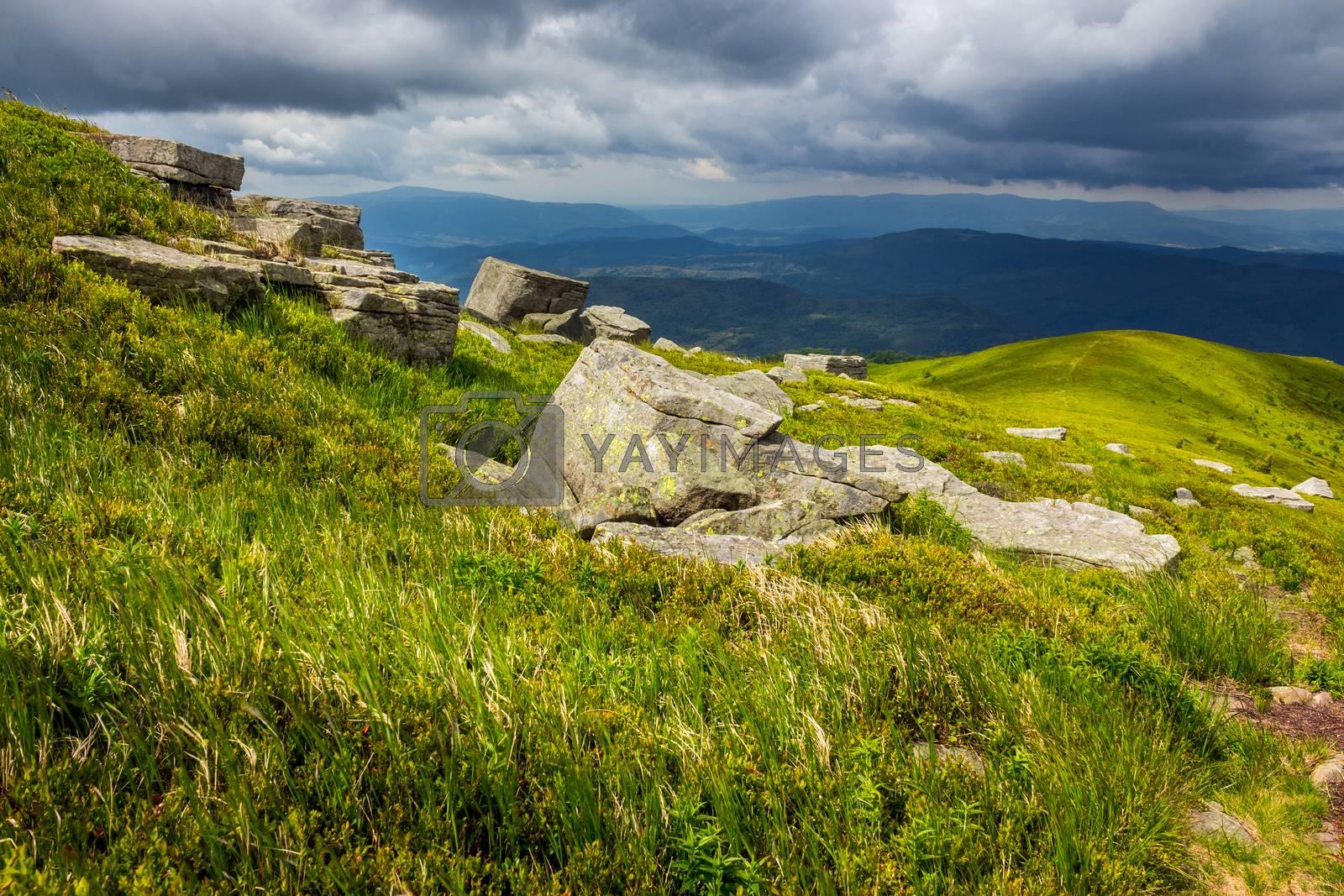 stones on the hillside by Pellinni