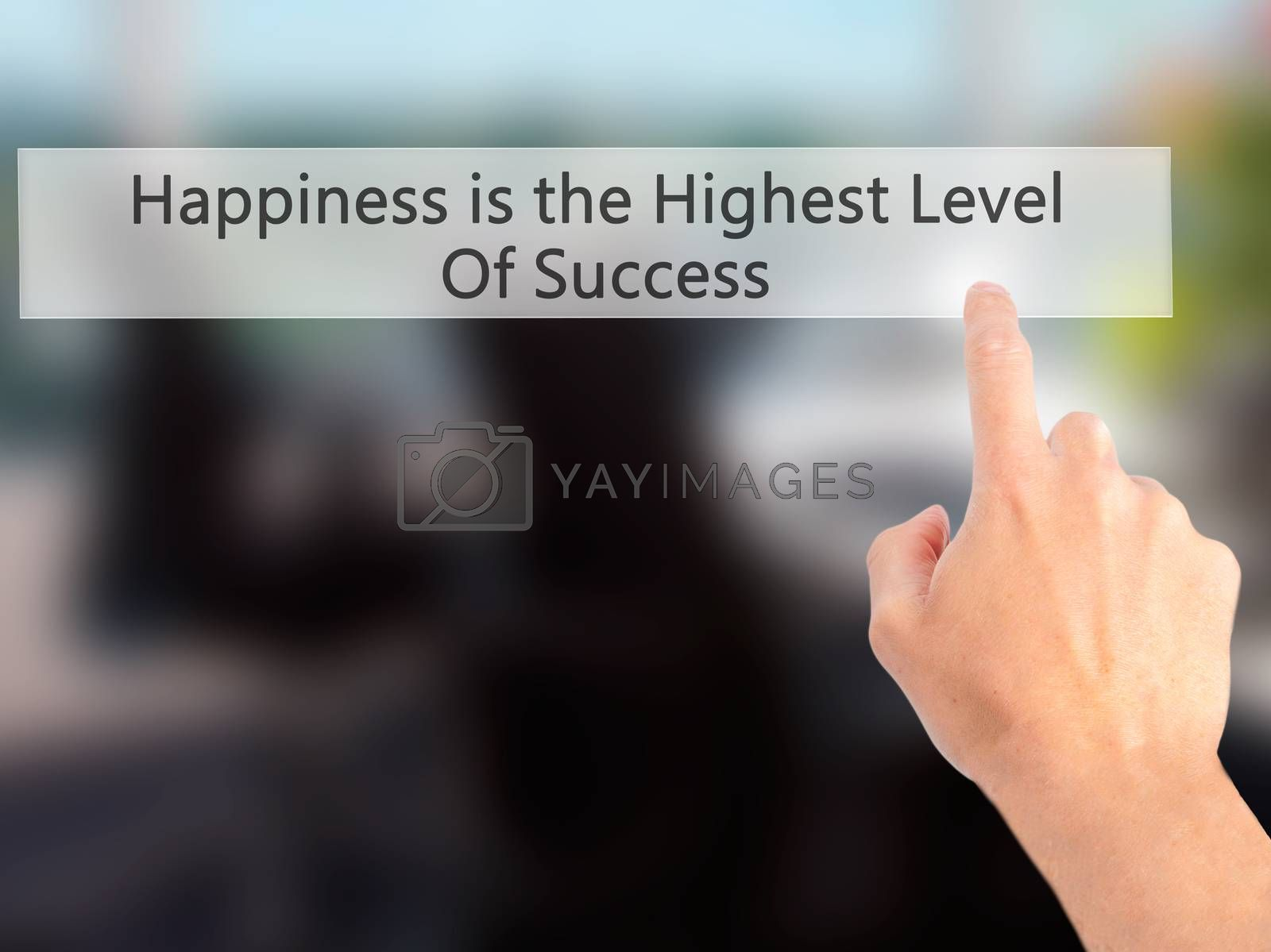 Happiness is the Highest Level Of Success - Hand pressing a butt by netsay.net