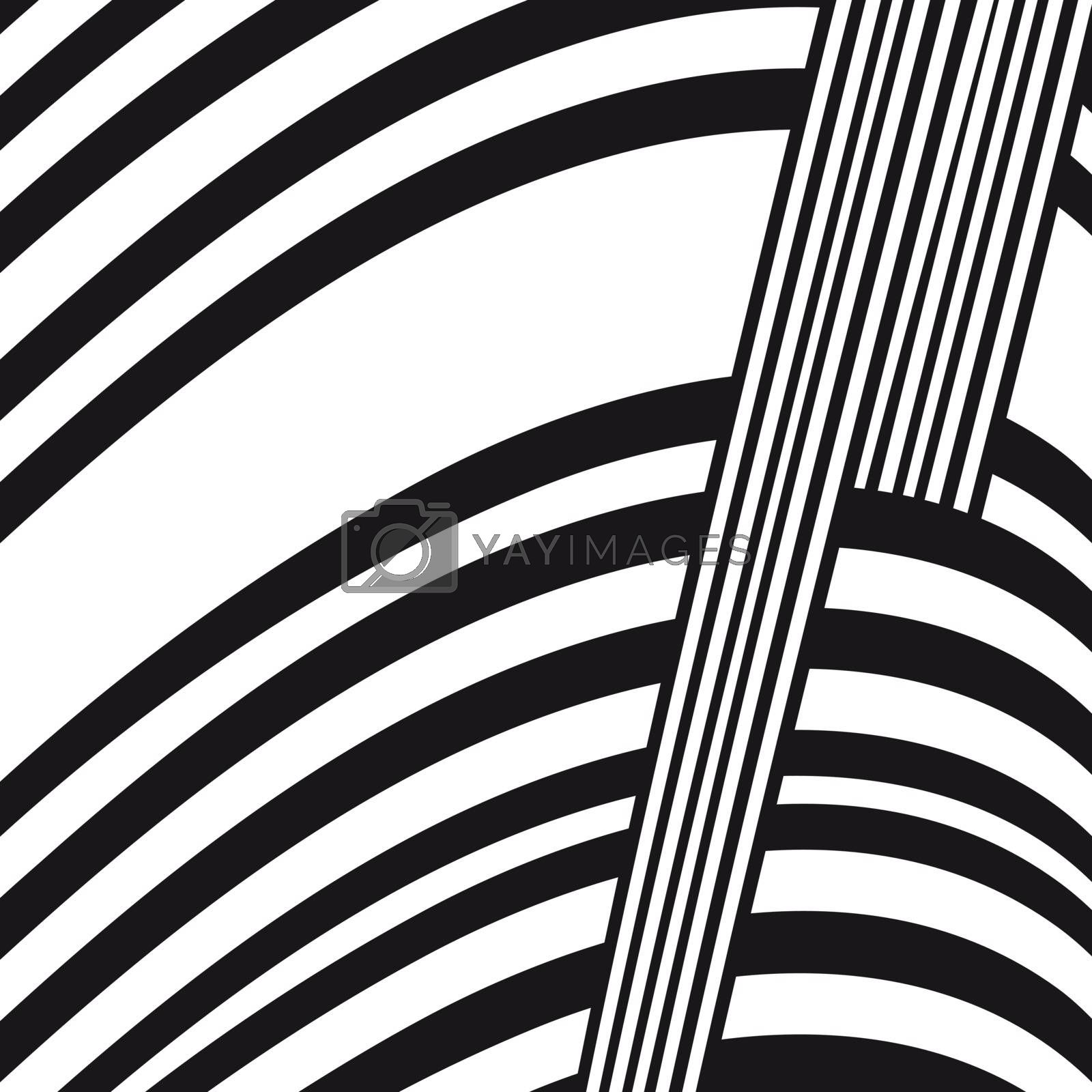 Abstract black and white composition