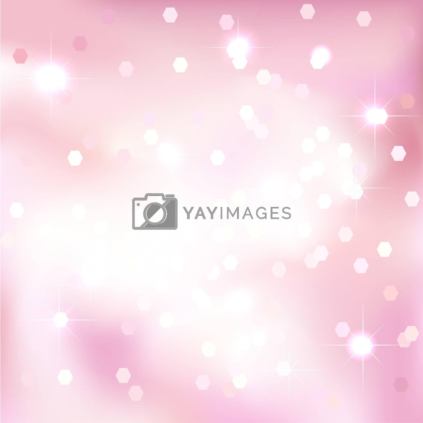 Bright light pink background. Festive design. Christmas style