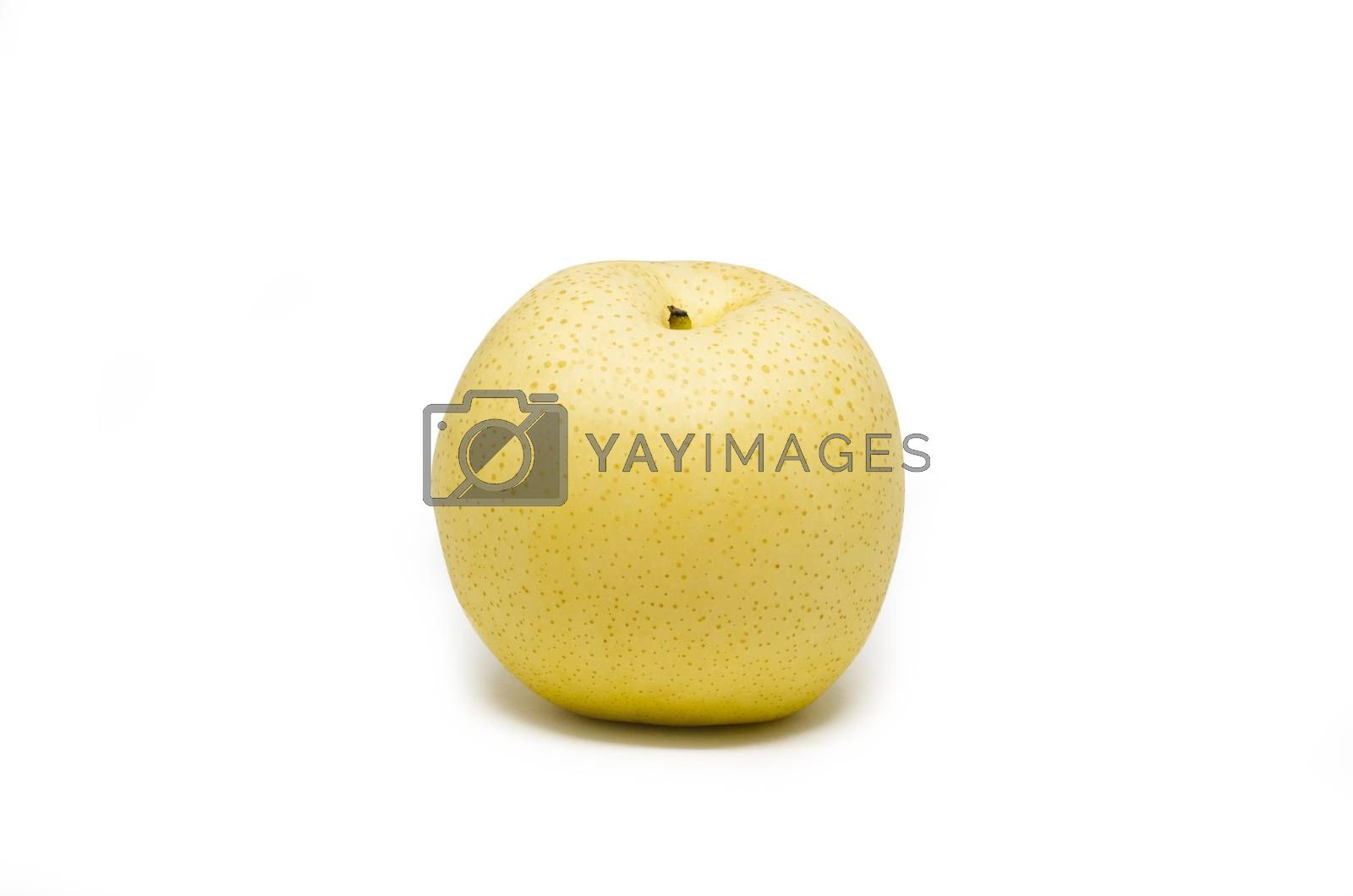 Chinese pears isolated on white background