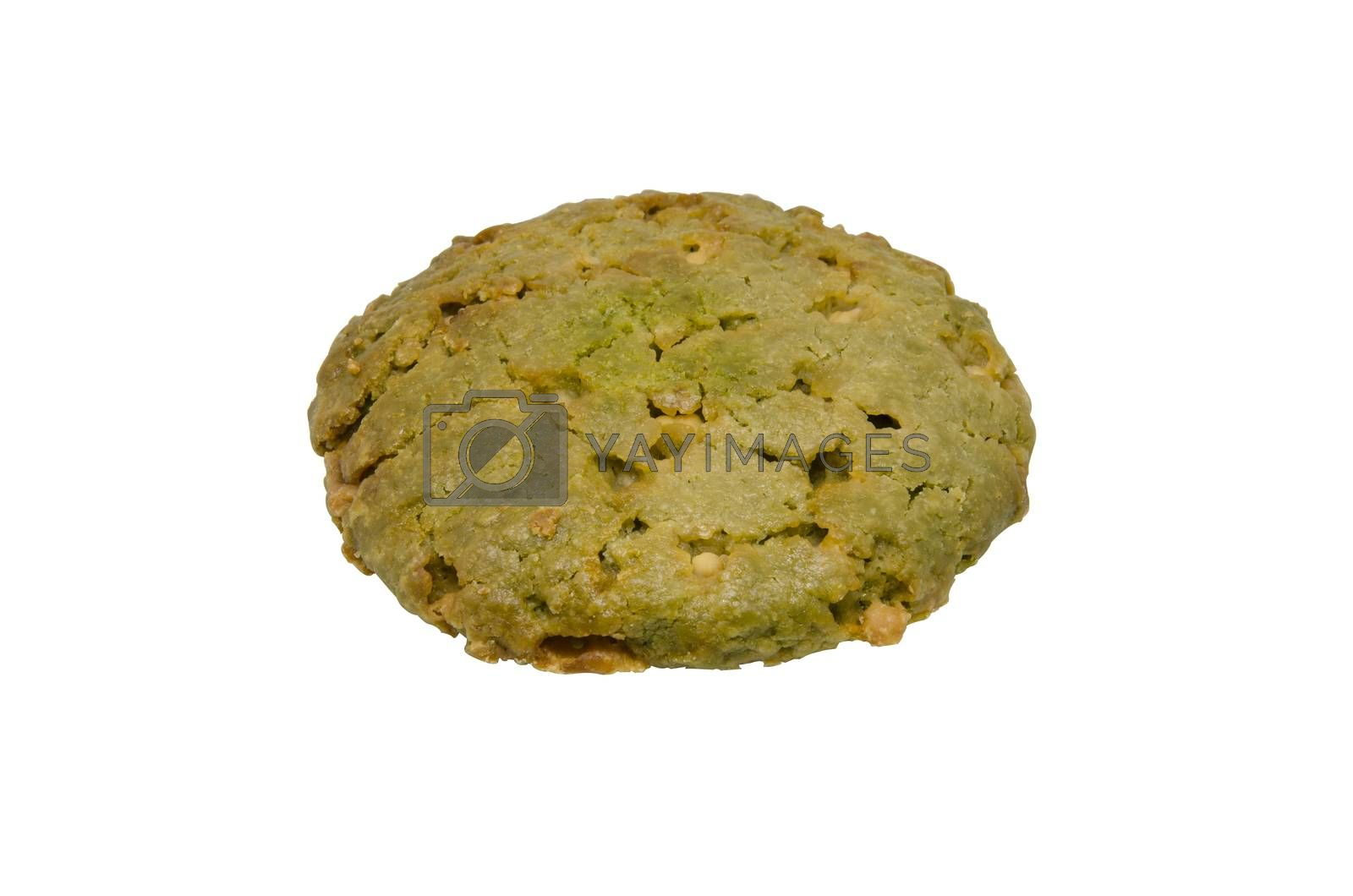 Oatmeal cookies isolated on white background clipping path