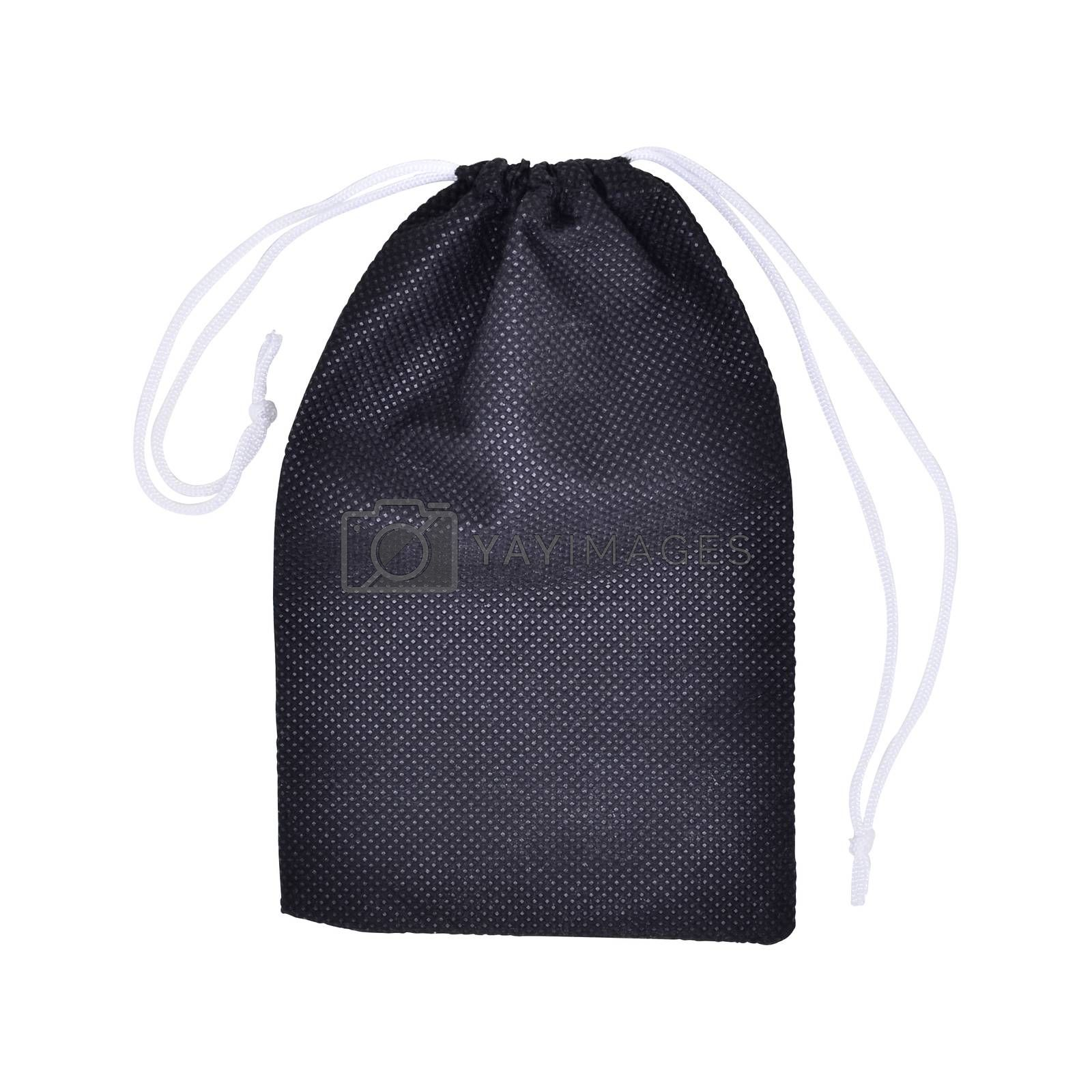 Black Bags White Rope Fabric Isolated