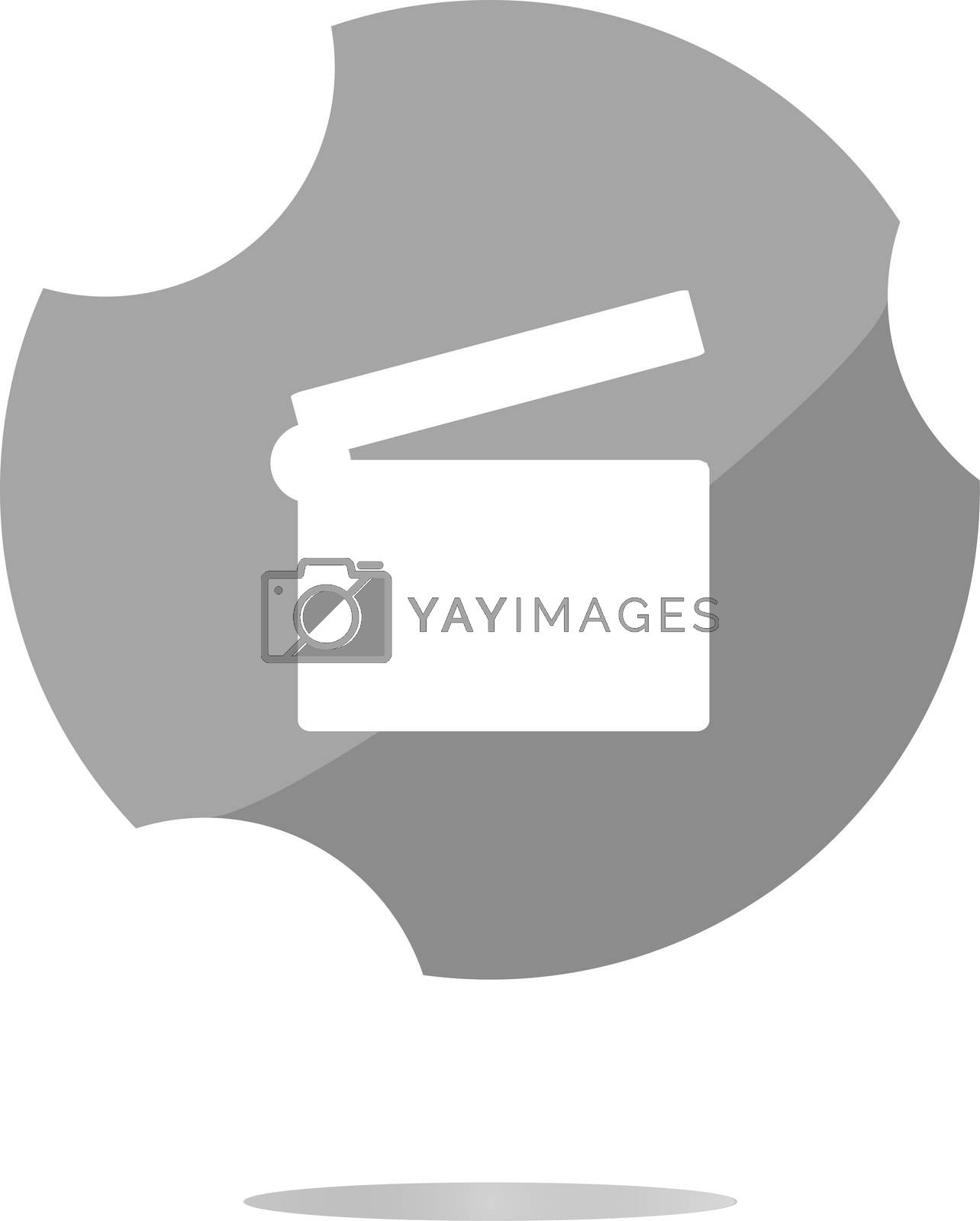 cinema glossy icon button on white background