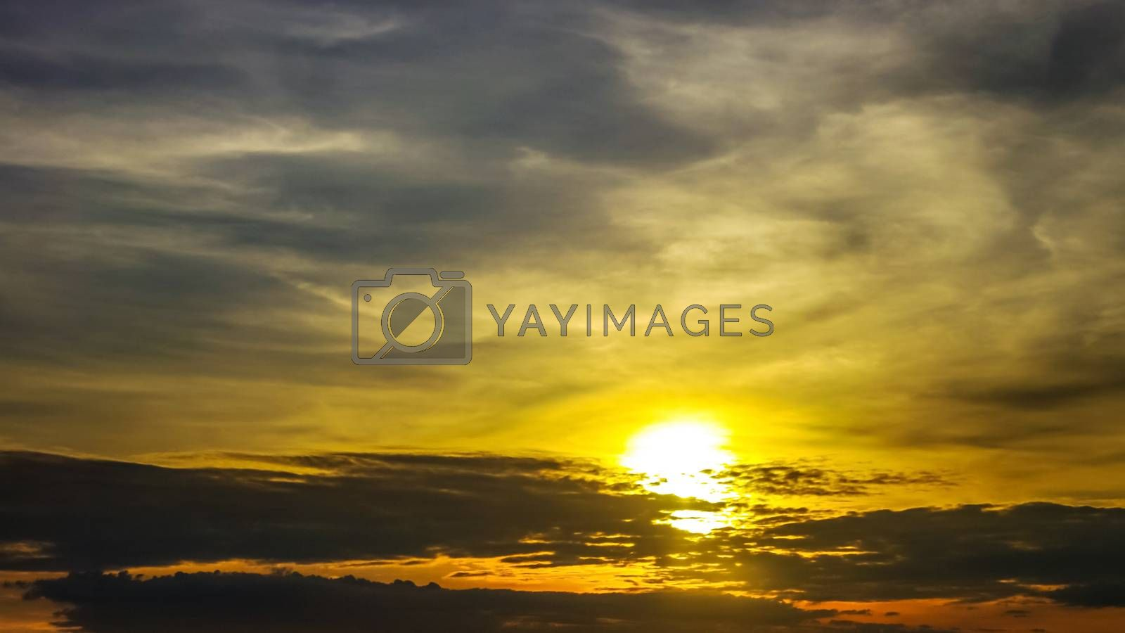 Nice clouds with sunset sky