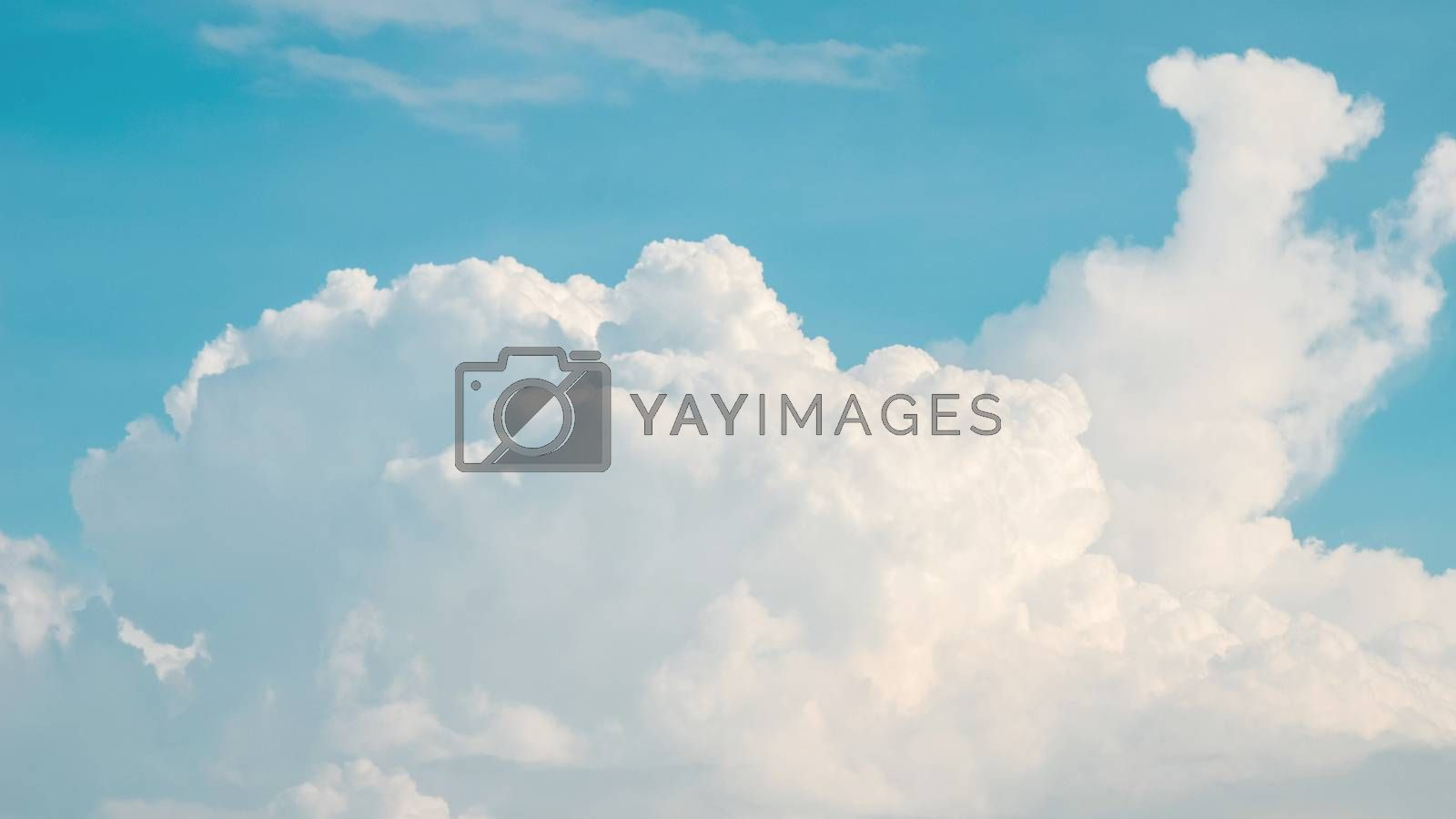 Nice clouds in blue sky background