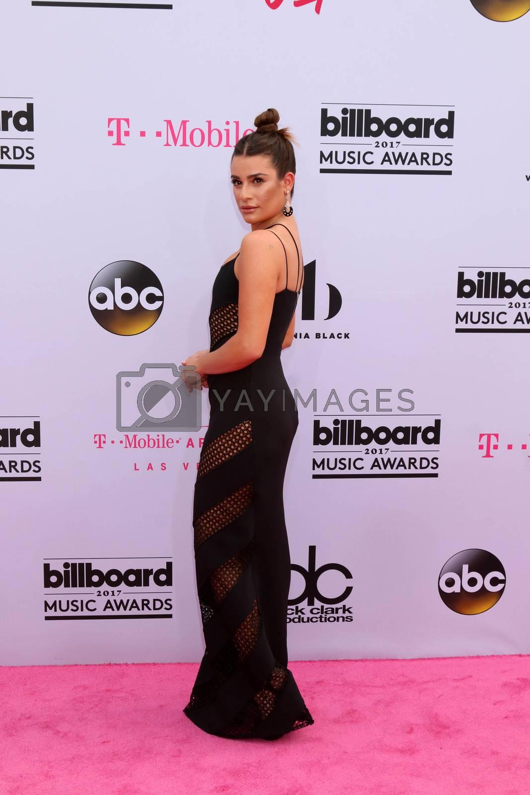Lea Michele at the 2017 Billboard Awards Arrivals, T-Mobile Arena, Las Vegas, NV 05-21-17