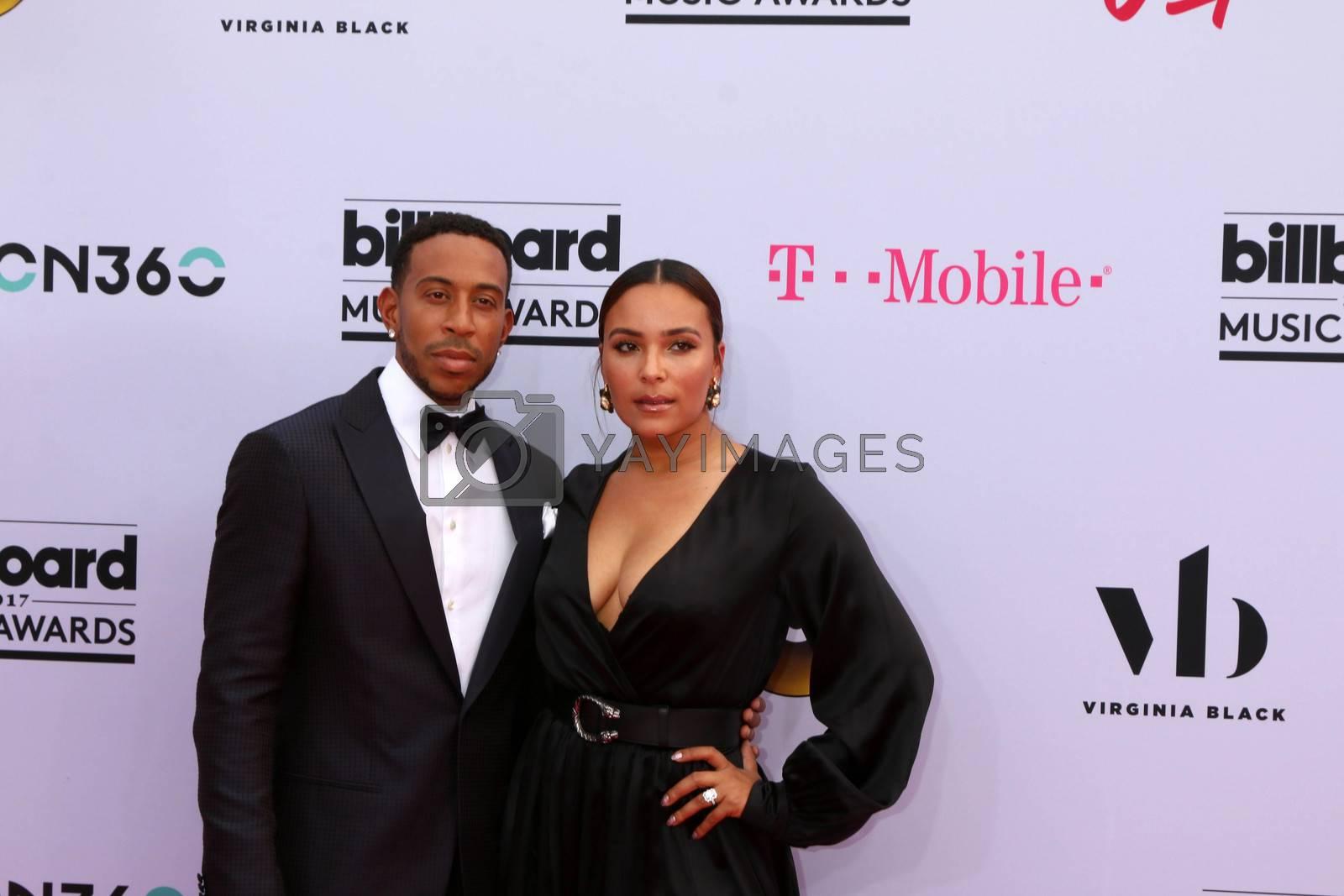 Chris Bridges, Ludacris, Eudoxie Mbouguiengue at the 2017 Billboard Awards Arrivals, T-Mobile Arena, Las Vegas, NV 05-21-17