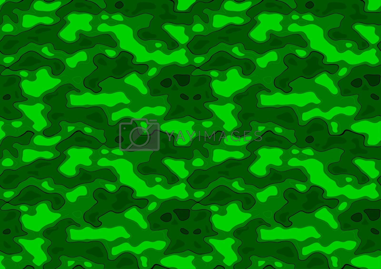 Green Repetitive Texture - Seamless Pattern Background Illustration, Vector