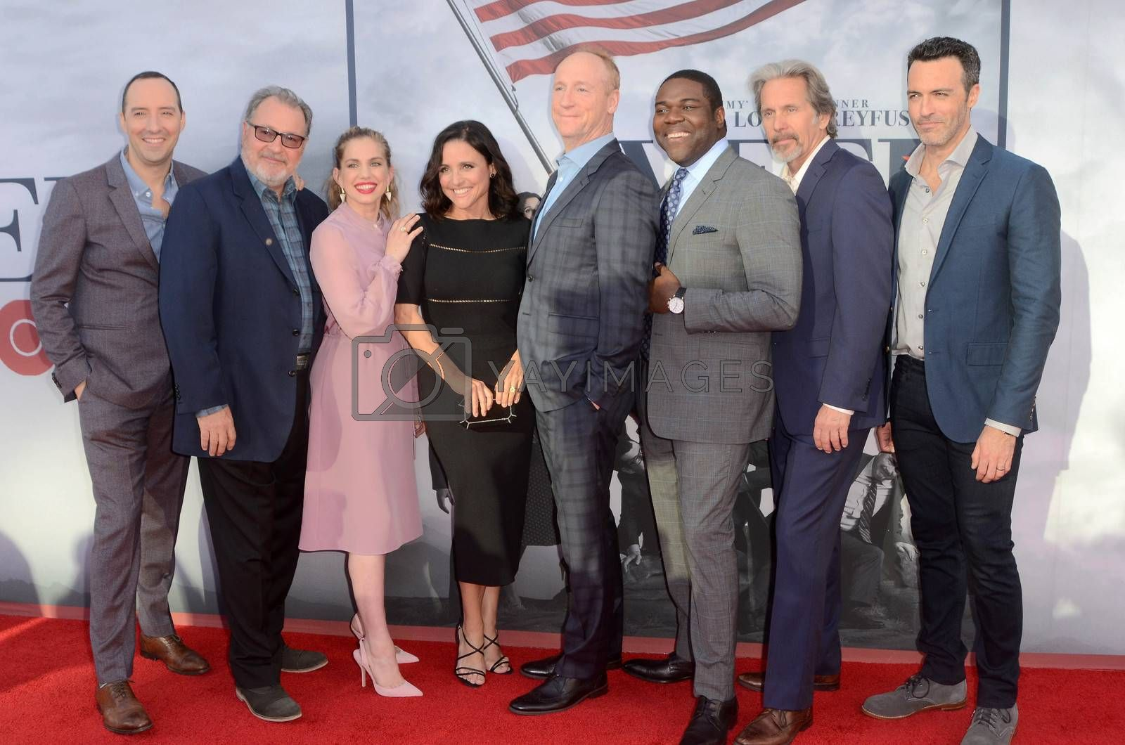 Tony Hale, Kevin Dunn, Anna Chlumsky, Julia Louis-Dreyfus, Matt Walsh, Sam Richardson, Gary Cole, Reid Scott at FYC for HBO's series VEEP 6th Season, Television Academy, North Hollywood, CA 05-25-17/ImageCollect by ImageCollect