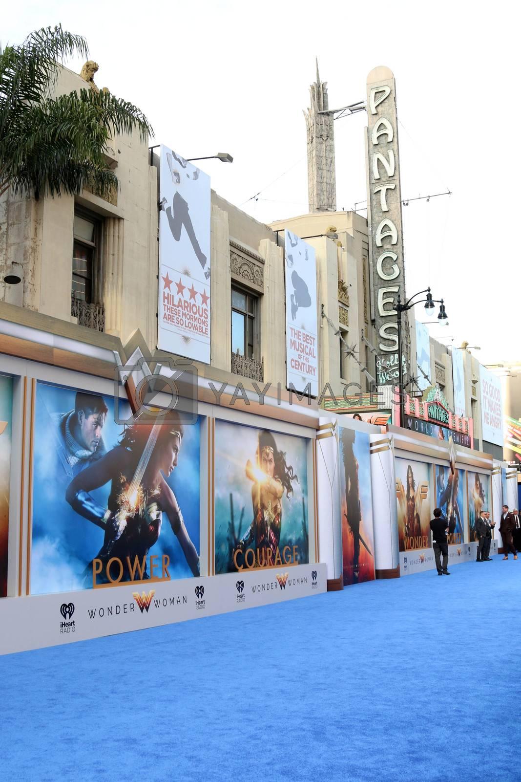 """Wonder Woman Atmosphere at the """"Wonder Woman"""" Premiere, Pantages, Hollywood, CA 05-25-17"""