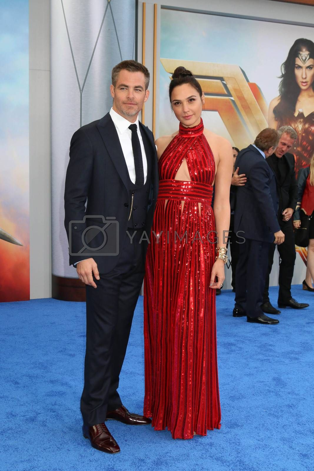 "Chris Pine, Gal Gadot at the ""Wonder Woman"" Premiere, Pantages, Hollywood, CA 05-25-17"