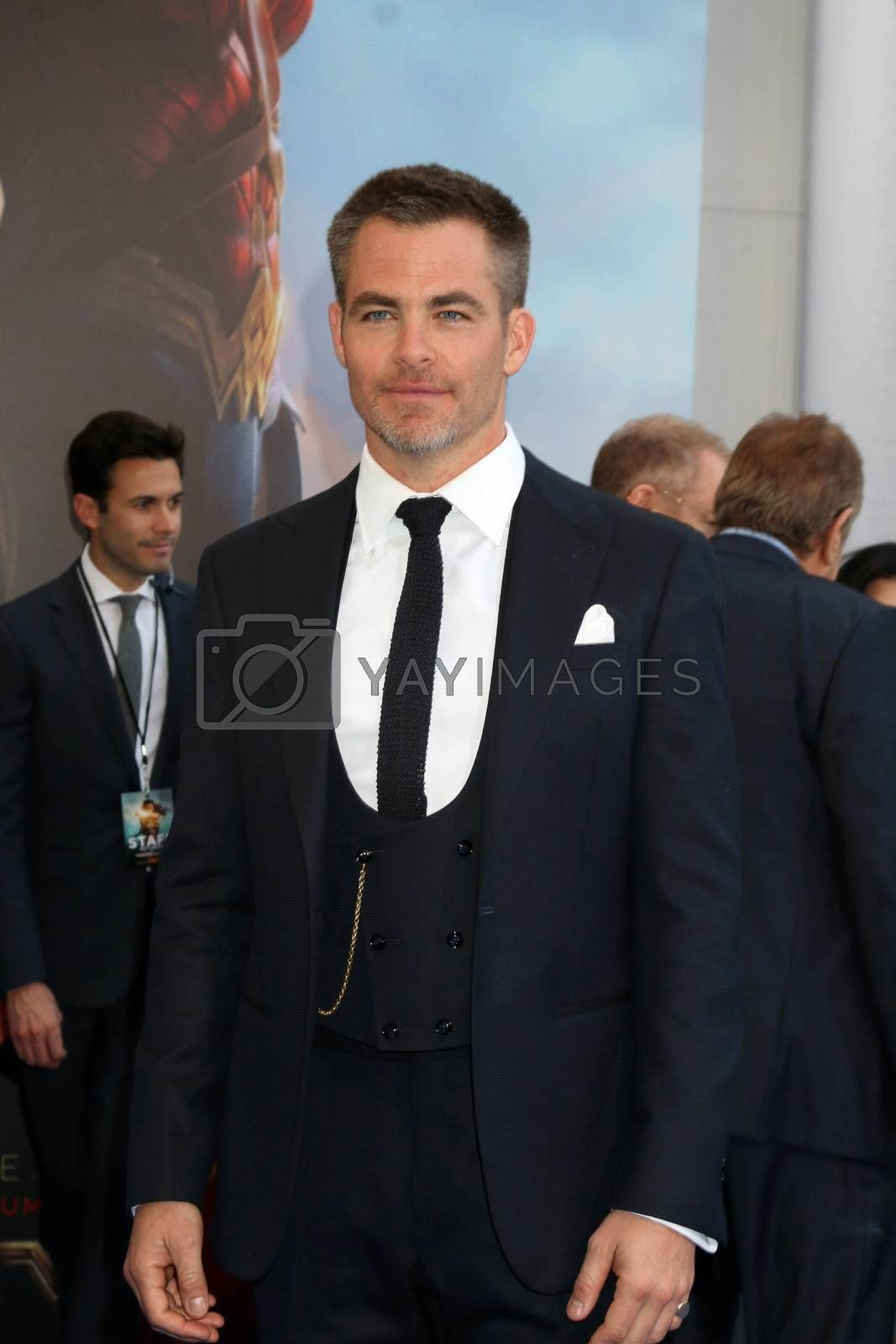 "Chris Pine at the ""Wonder Woman"" Premiere, Pantages, Hollywood, CA 05-25-17"
