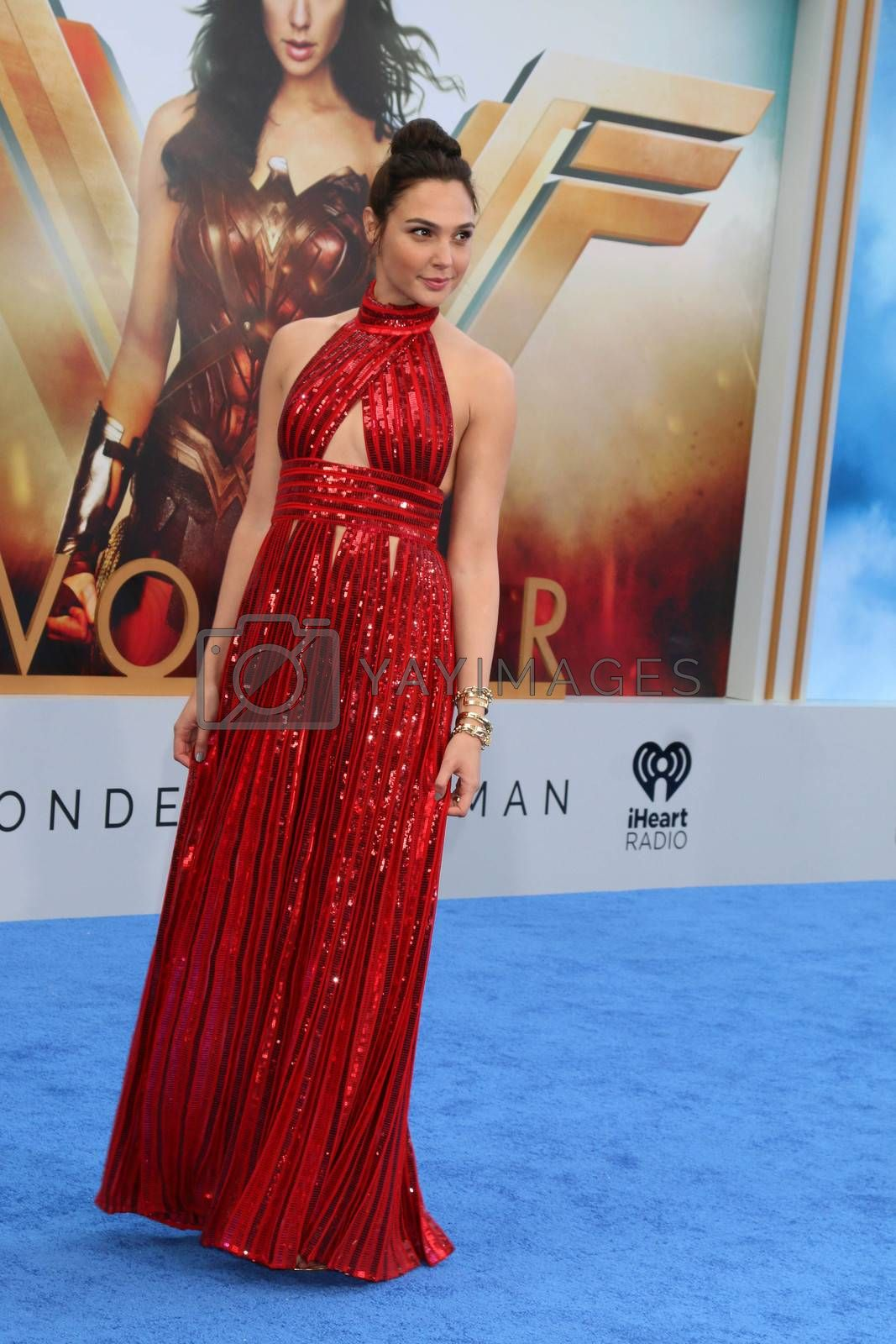 "Gal Gadot at the ""Wonder Woman"" Premiere, Pantages, Hollywood, CA 05-25-17"