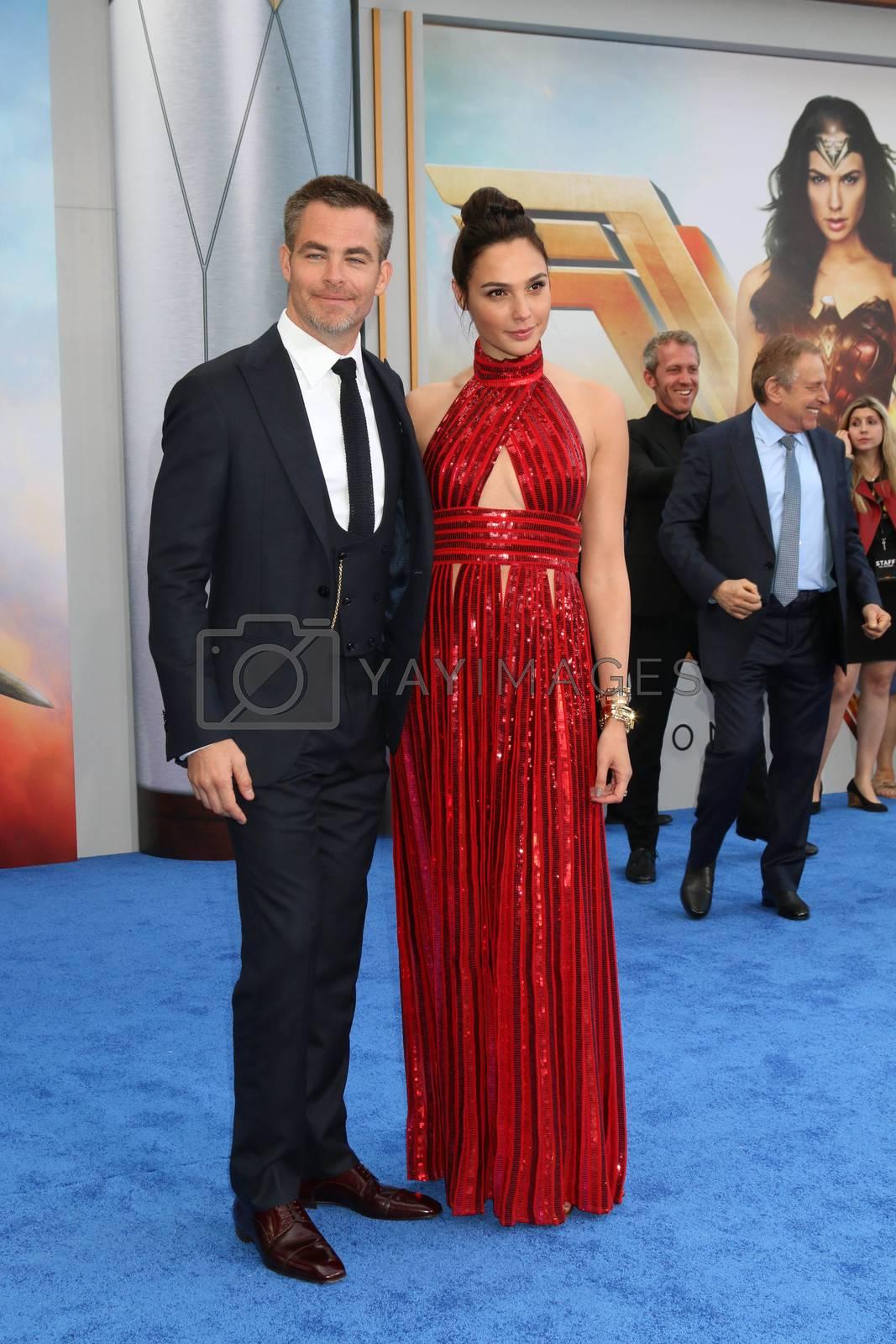 "Chris Pine, Gal Gadot at the ""Wonder Woman"" Premiere, Pantages, Hollywood, CA 05-25-17"