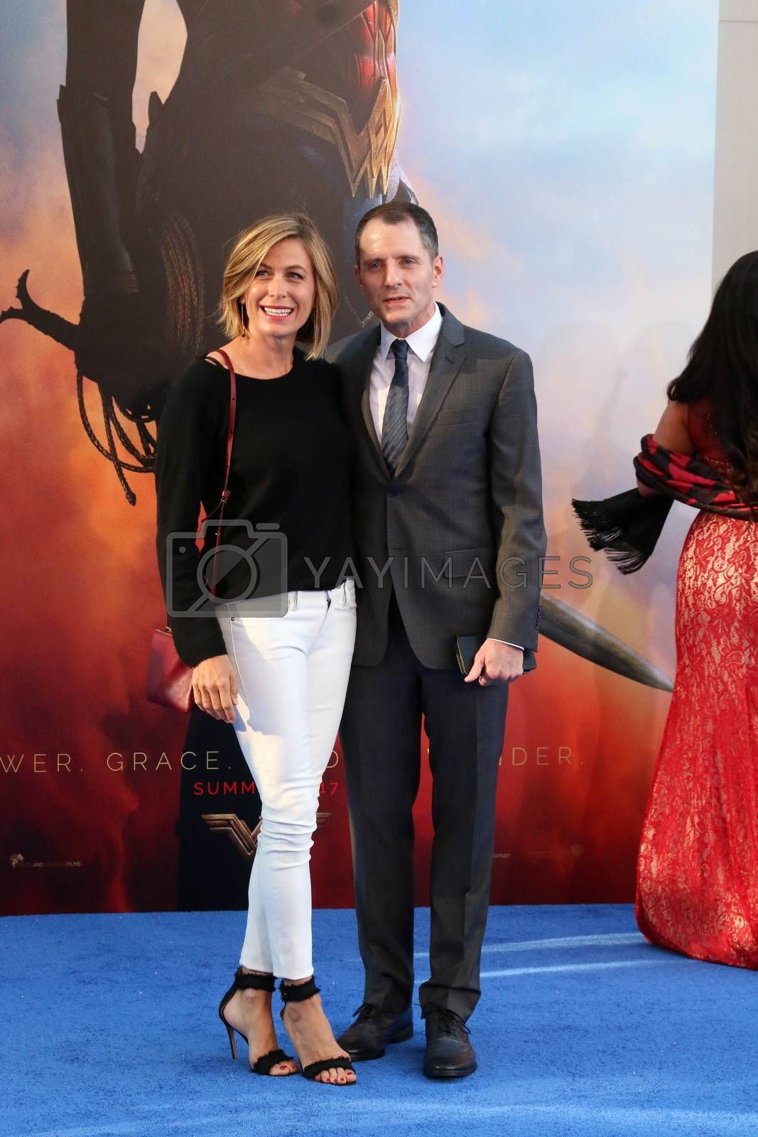"Sonya Walger, Allan Heinberg at the ""Wonder Woman"" Premiere, Pantages, Hollywood, CA 05-25-17"