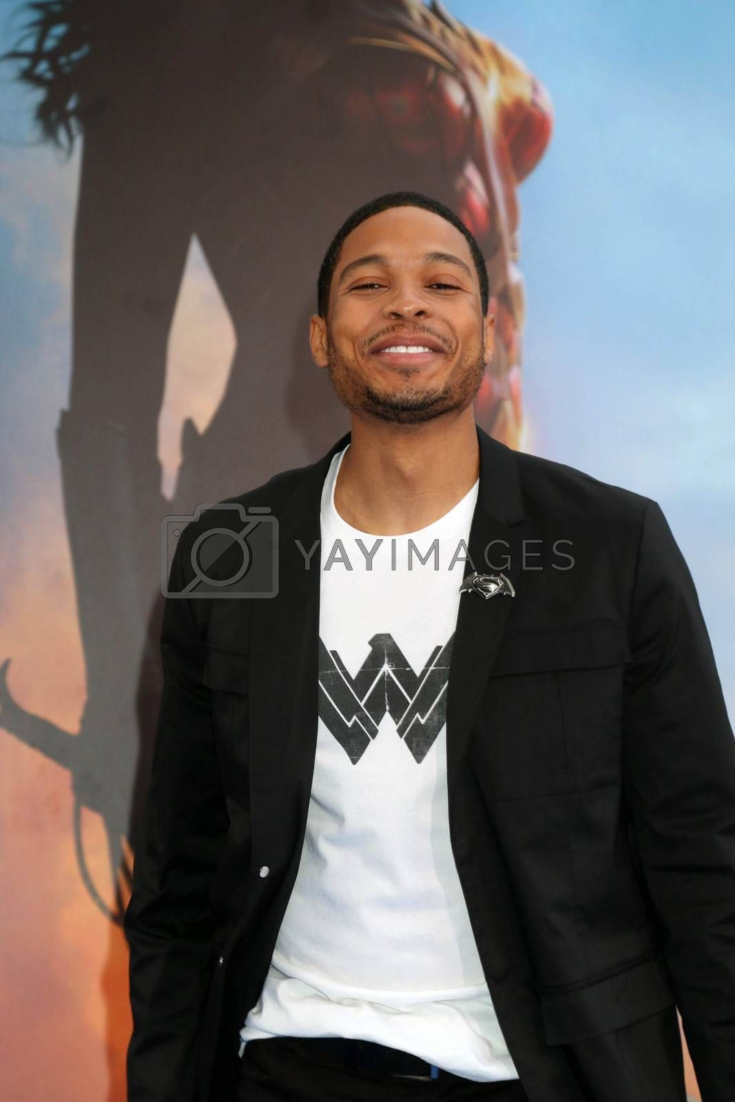 """Ray Fisher at the """"Wonder Woman"""" Premiere, Pantages, Hollywood, CA 05-25-17"""