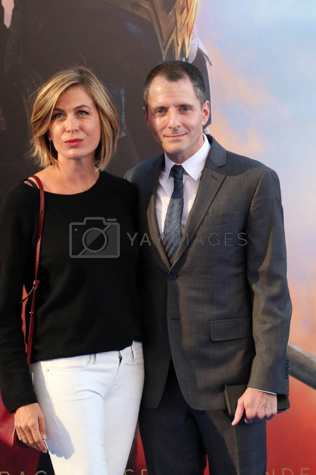 """Royalty free image of Sonya Walger, Allan Heinberg at the """"Wonder Woman"""" Premiere, Pantages, Hollywood, CA 05-25-17/ImageCollect by ImageCollect"""